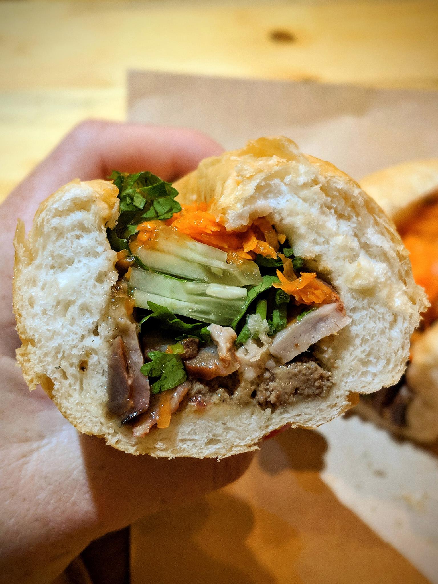 Bánh Mì with BBQ pork  and  pâté, so amazing!