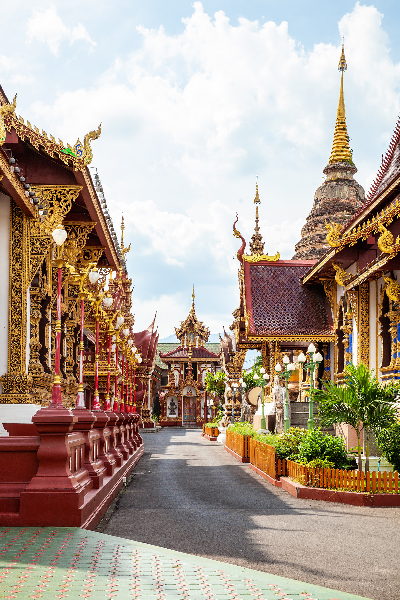 Intricate and ornate details abound at Wat Saen Muang Ma Luang