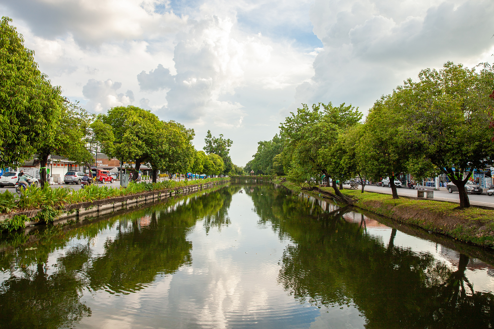 the canals surrounding the Old City
