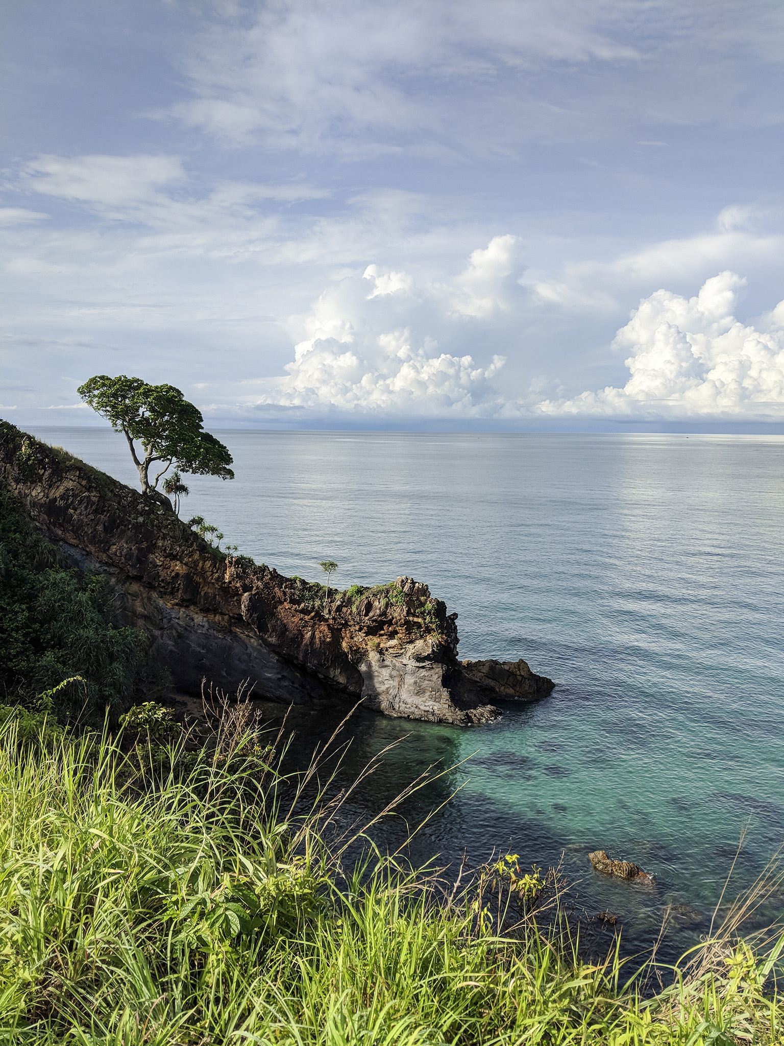 view of crystal clear waters from the Houben
