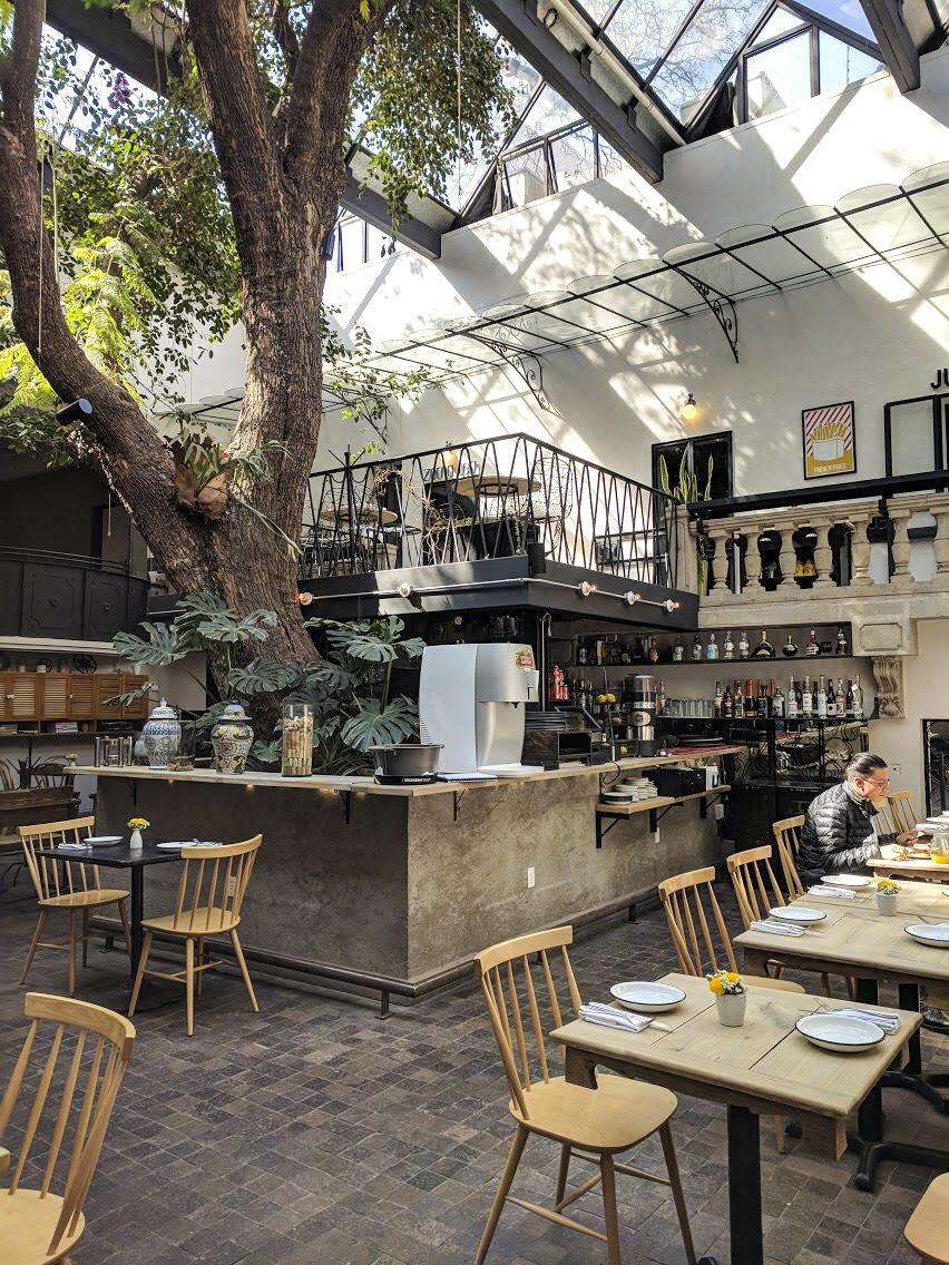 Indoor/Outdoor dining at Dulcinea