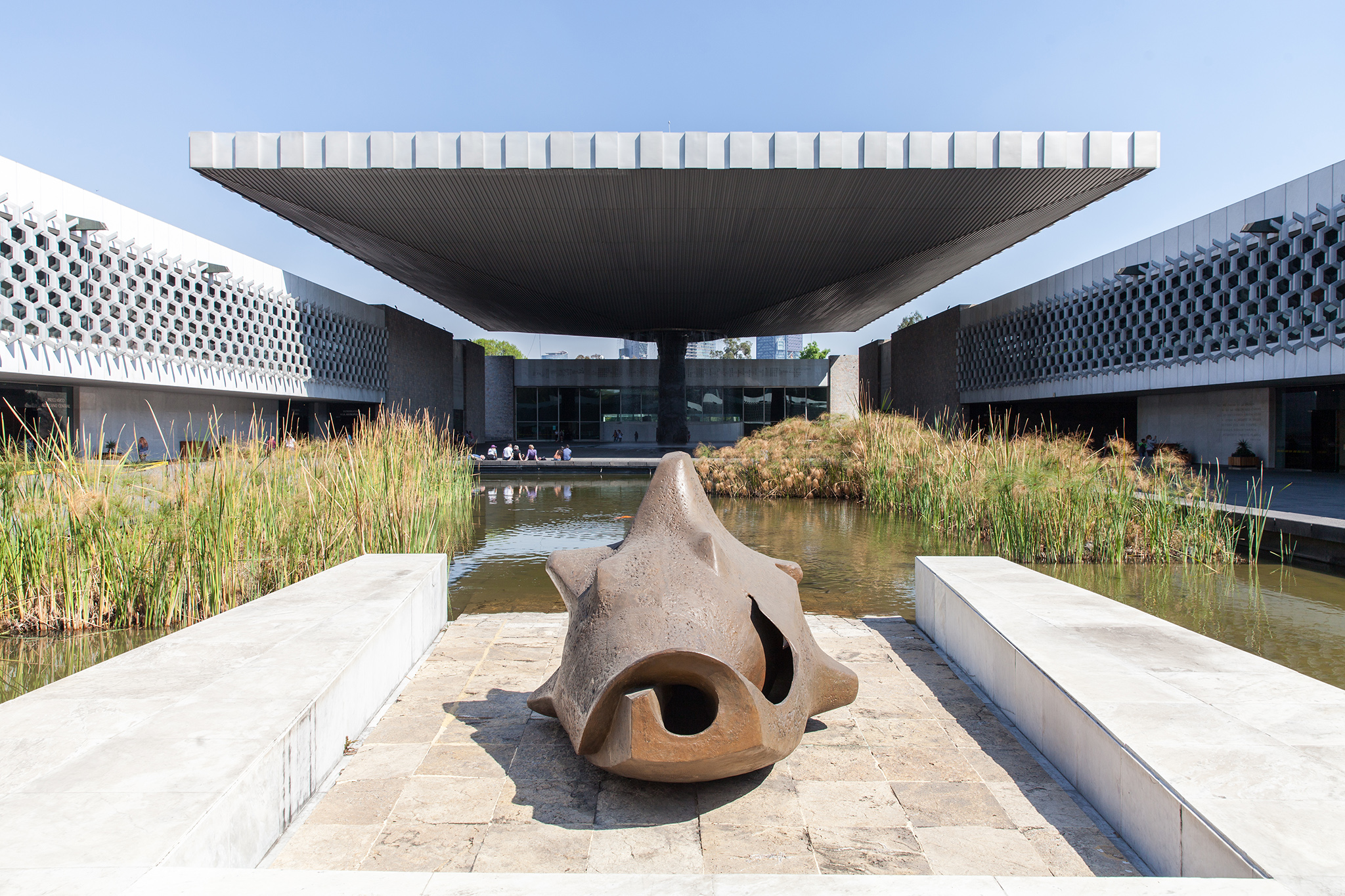 Gorgeous architecture at Museo Nacional de Antropología