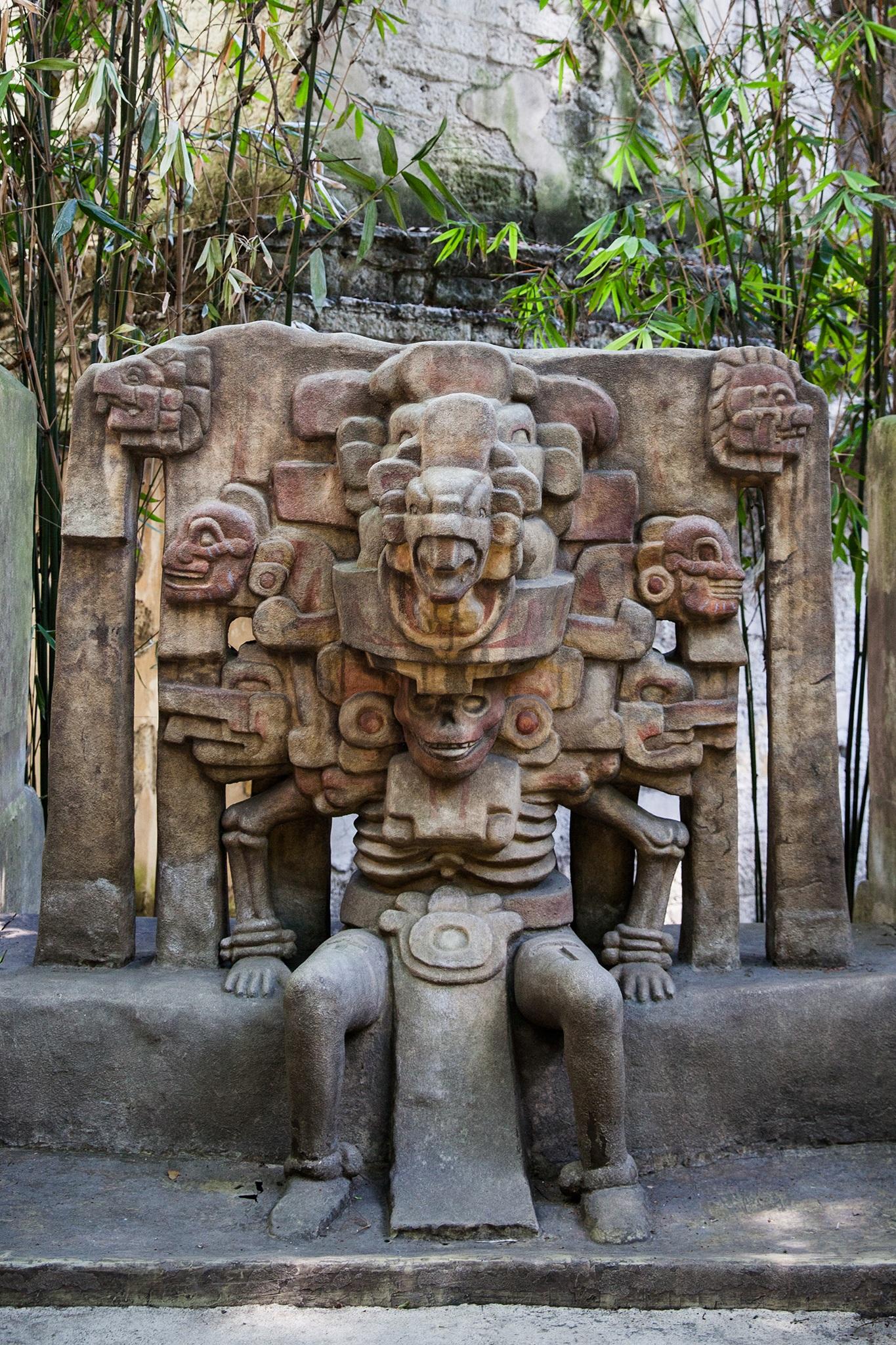 Reproductions of temple carvings at Museo Nacional de Antropología