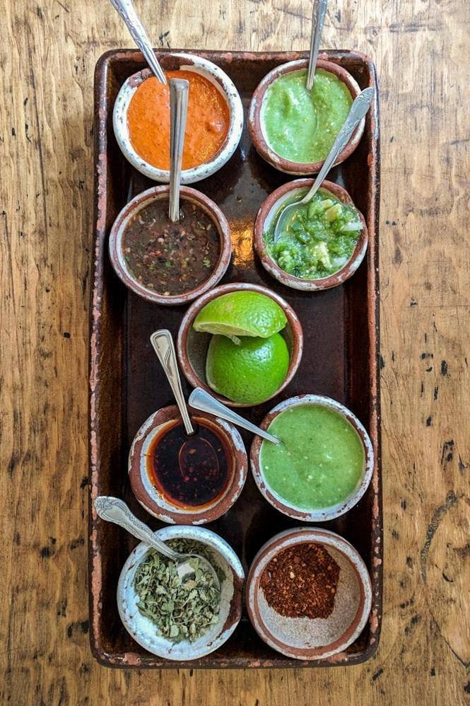 Delicious homemade salsa spread at El Beso