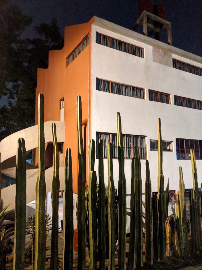 Frida Kahlo's home at night