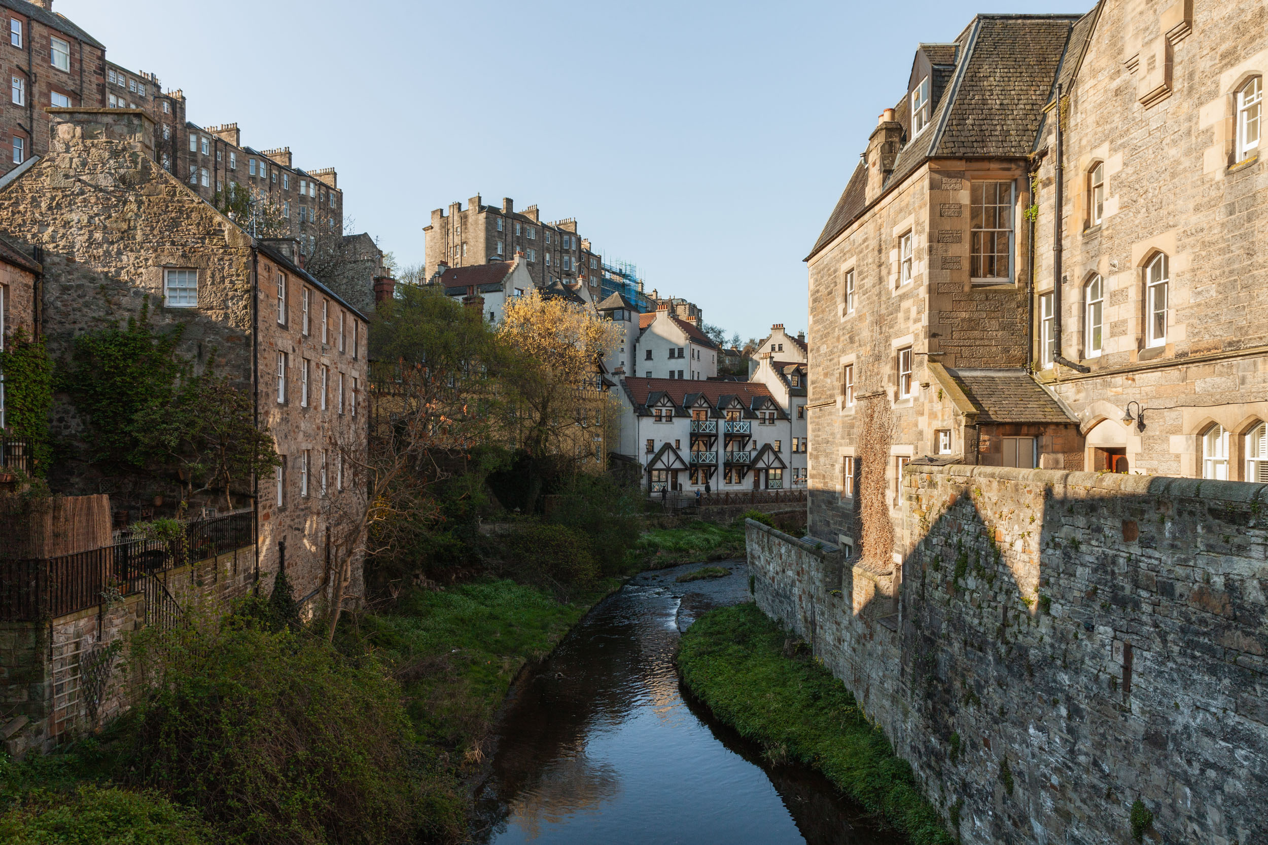 Early morning walk through Dean Village, along the Water of Leith walkway