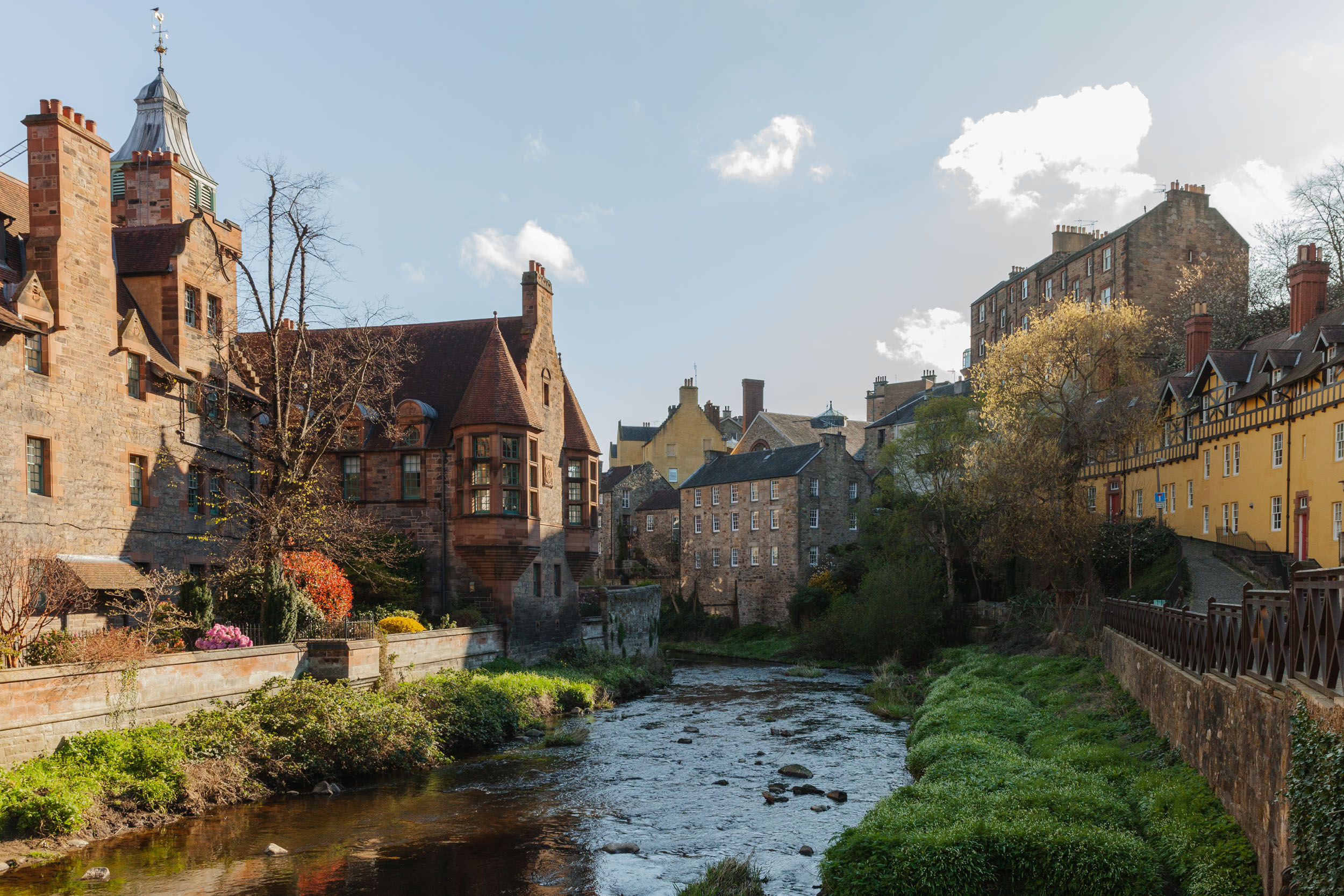 So many lovely views of Dean Village in the morning light