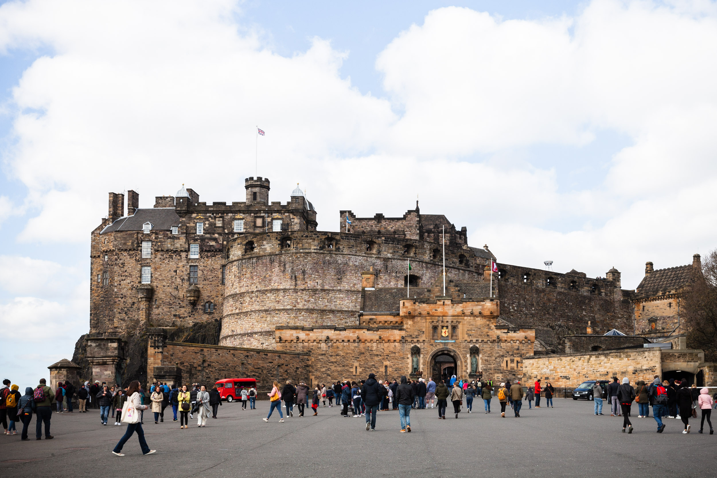 Perhaps it was due to the throngs of tourists, but I thought Edinburgh Castle was less impressive from the top of the hill. I didn't have a chance to go inside, but I heard it's well worth multiple visits to see it all!