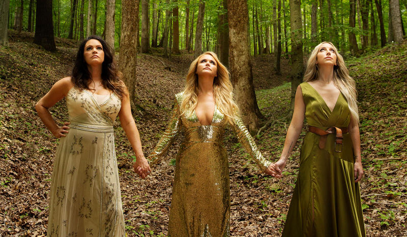 Pistol Annies symbolize the country/Americana divide. Miranda Lambert (center) launched a star career in country in a previous era. Angaleena Presley (L) and Ashley Monroe, only get played by Americana, as with the trio itself.