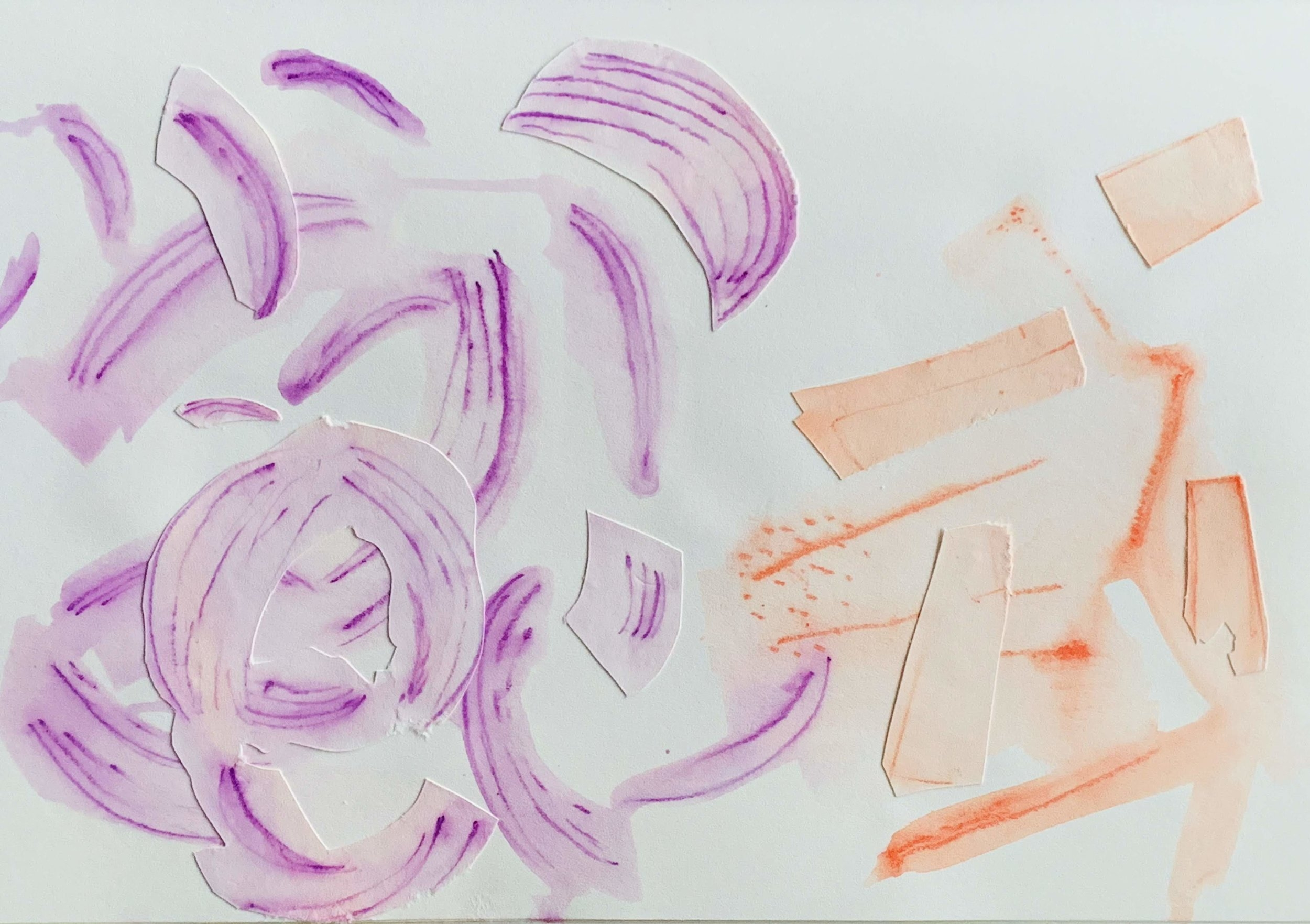 Untitled Abstraction in Purple and Orange