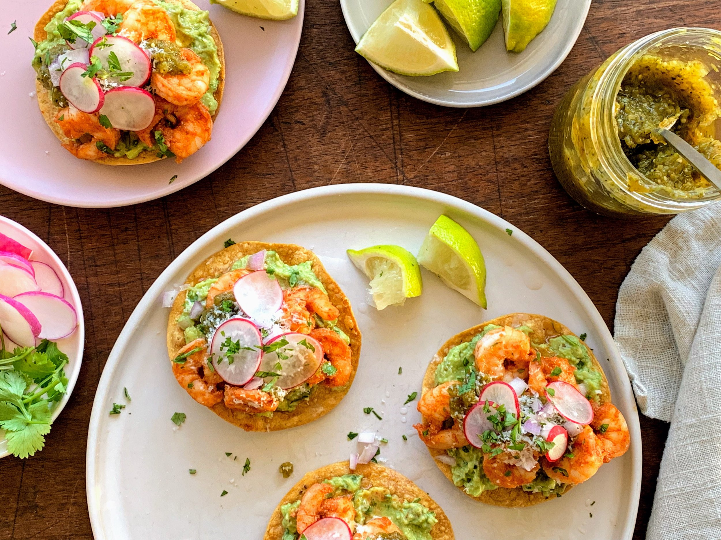 Shrimp tostadas plated.jpg