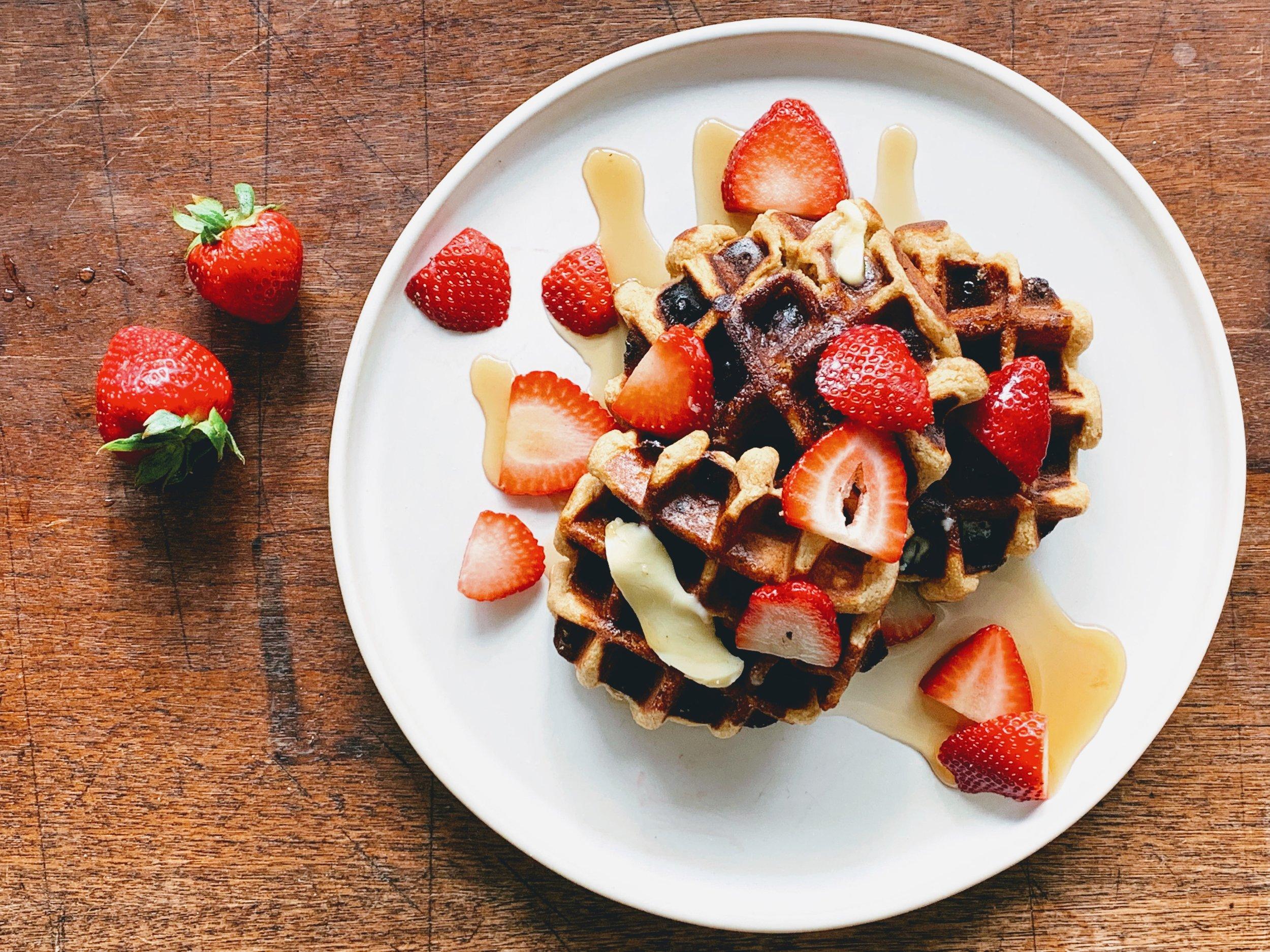 Gluten Free Strawberry Banana Waffles