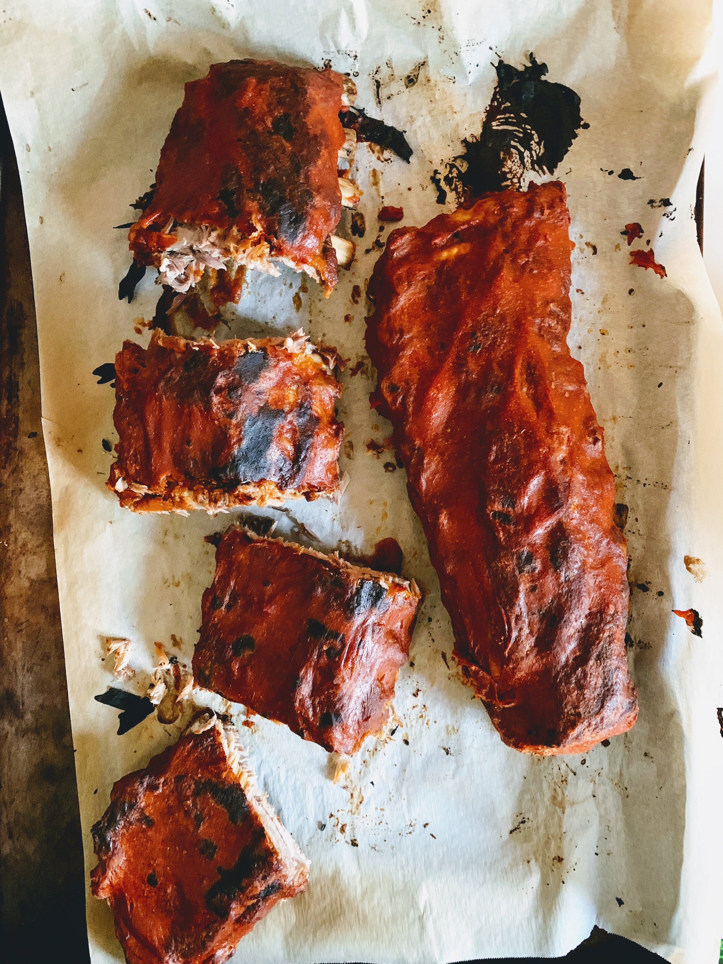 Instant Pot Mango Chipotle Ribs broiled.jpg