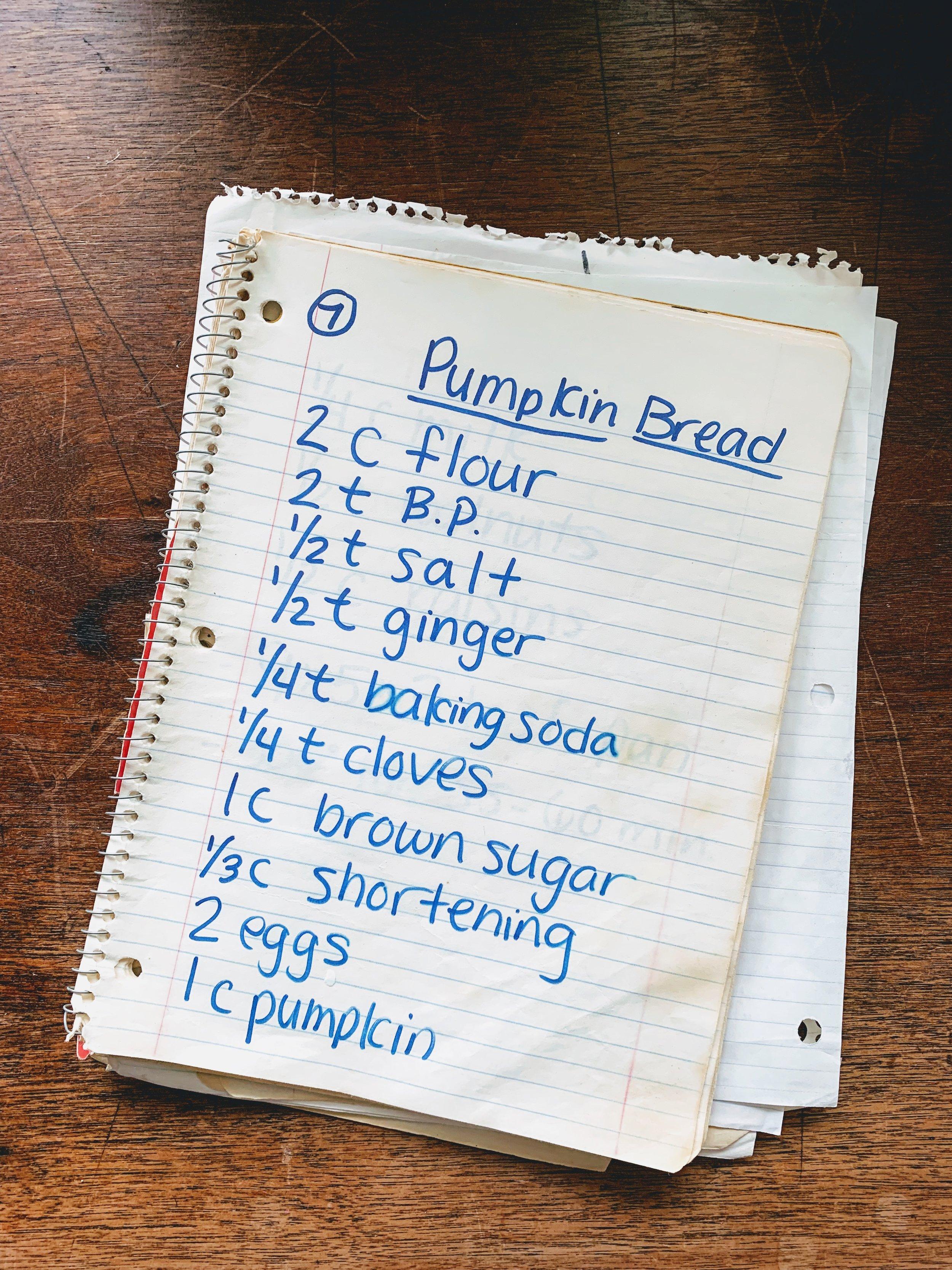 Gram's Souped-Up Pumpkin bread recipe book2.jpg