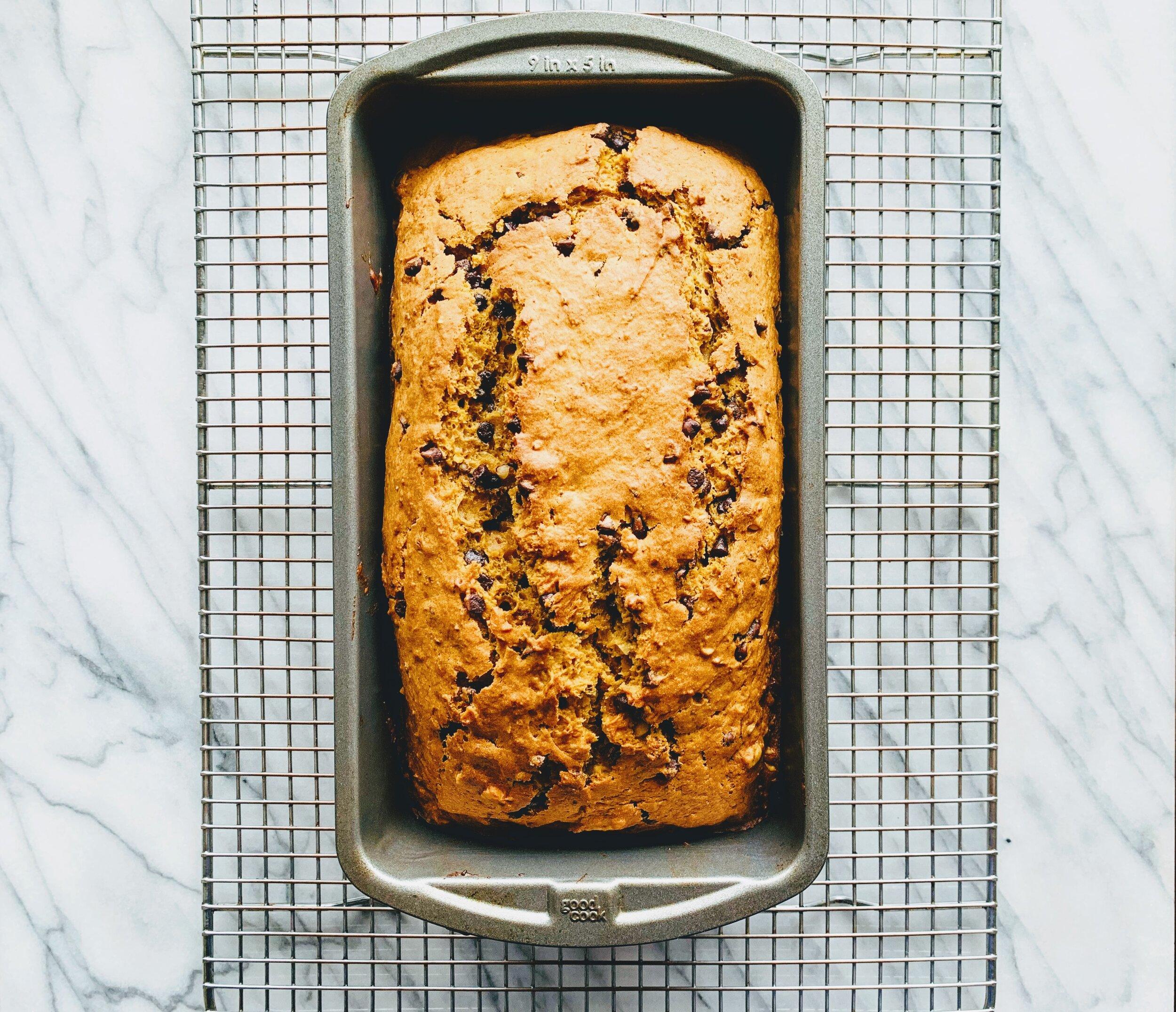 Gram's Souped-Up Pumpkin Bread on cooling rack.jpg