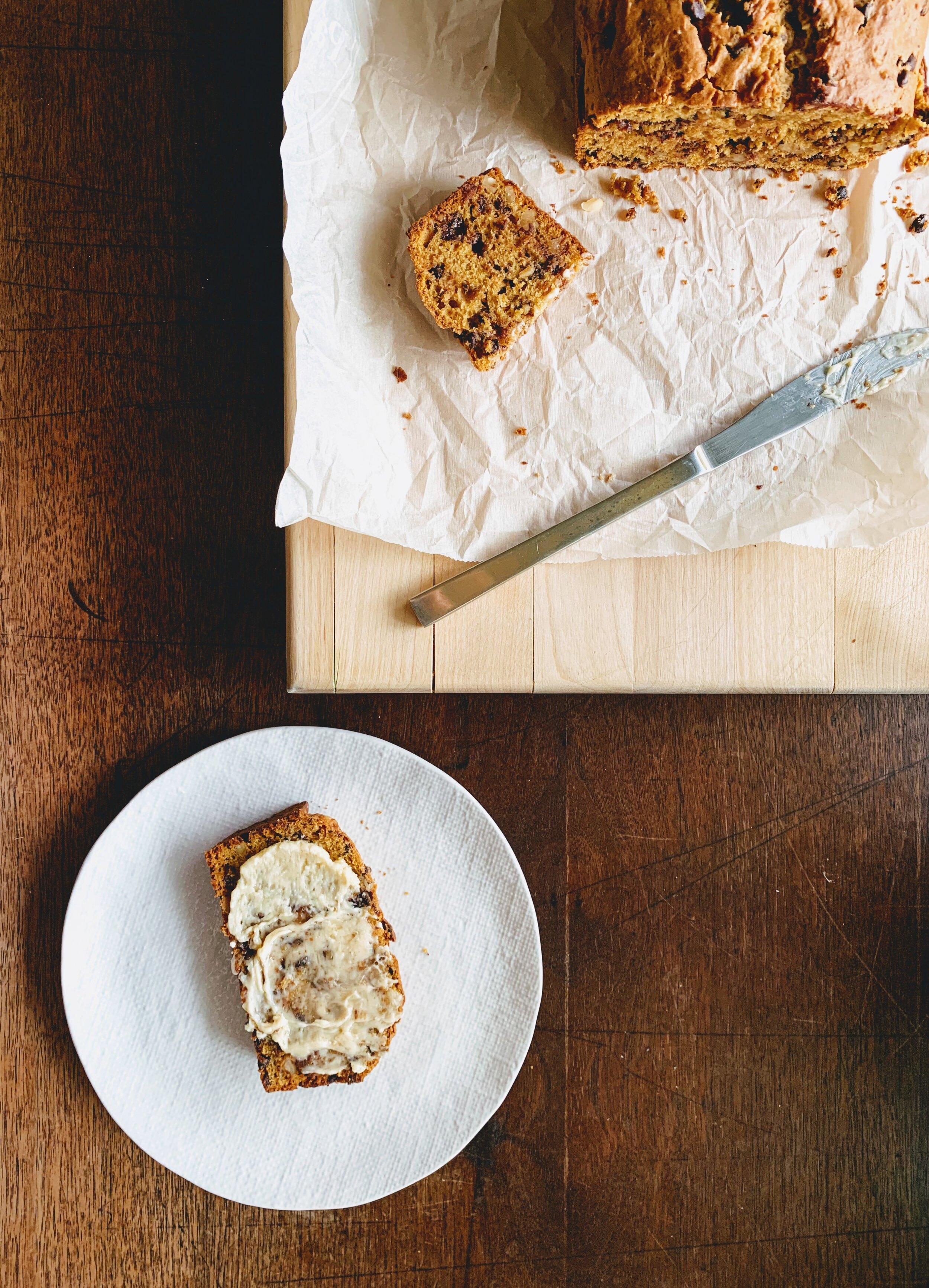 Gram's Souped-Up Pumpkin Bread with honey butter.jpg