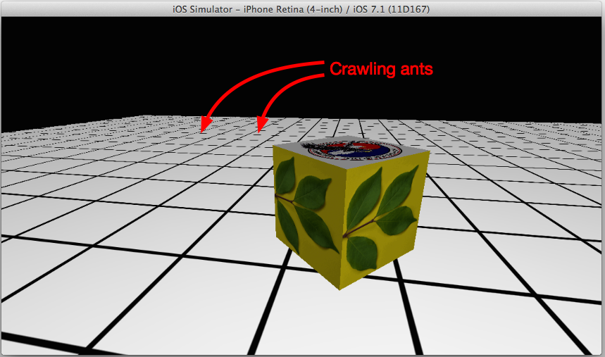The little dash lines move as I move through the scene creating a crawling ants feeling