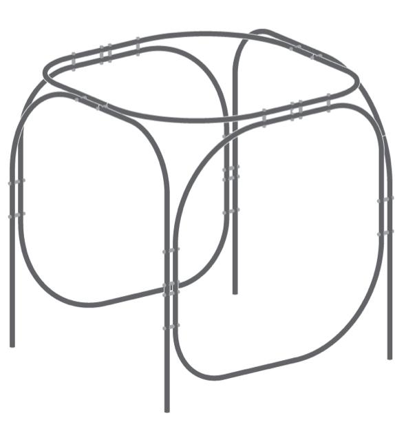 Assembled Steel Hammock Module
