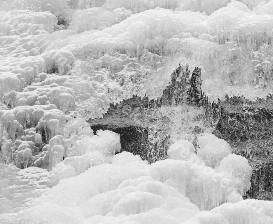 Ice at Falls (Closer and B&W) 2 Arethusa Falls NH 11-29-12.jpg