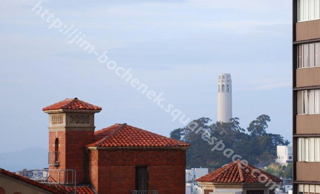 Coit tower from Fairmont Roof Garden SF 4-09.jpg
