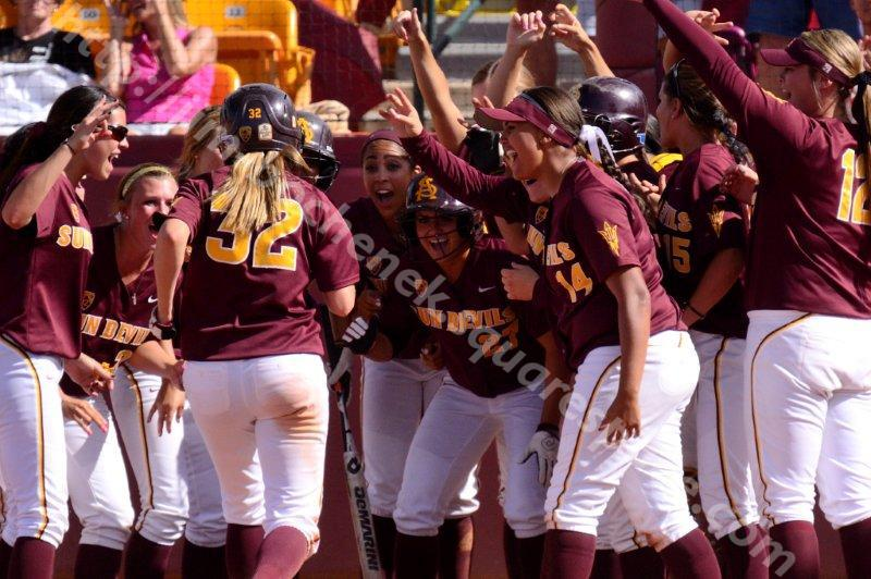 Haley Steele & Team - ASU Softball 5-26-13