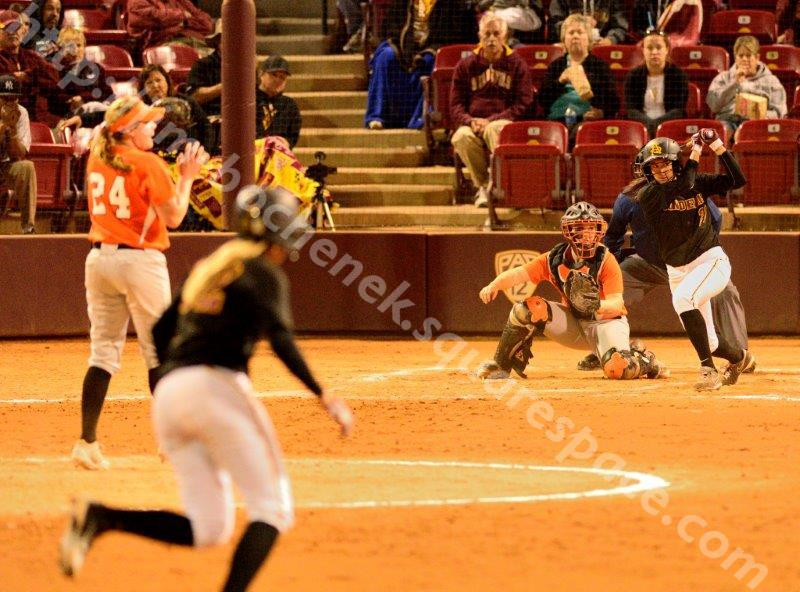 Bethany Kemp - ASU Softball 2-22-14