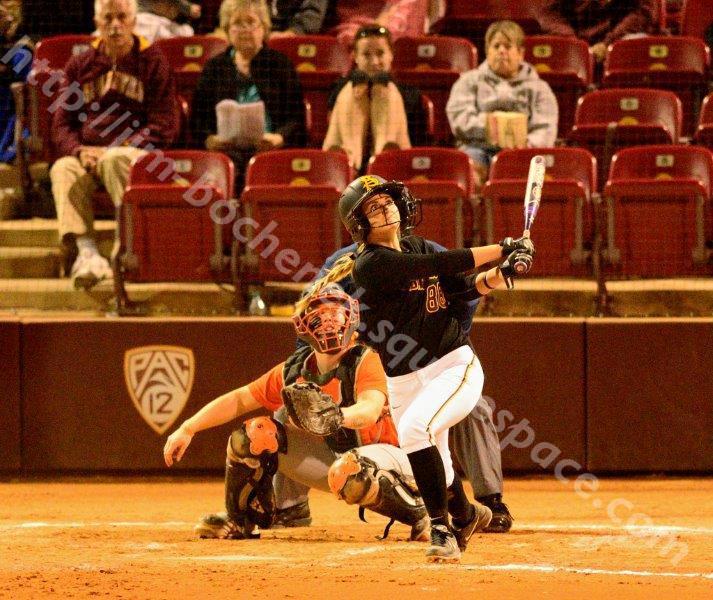 NIkki Girard - ASU Softball 2-22-14