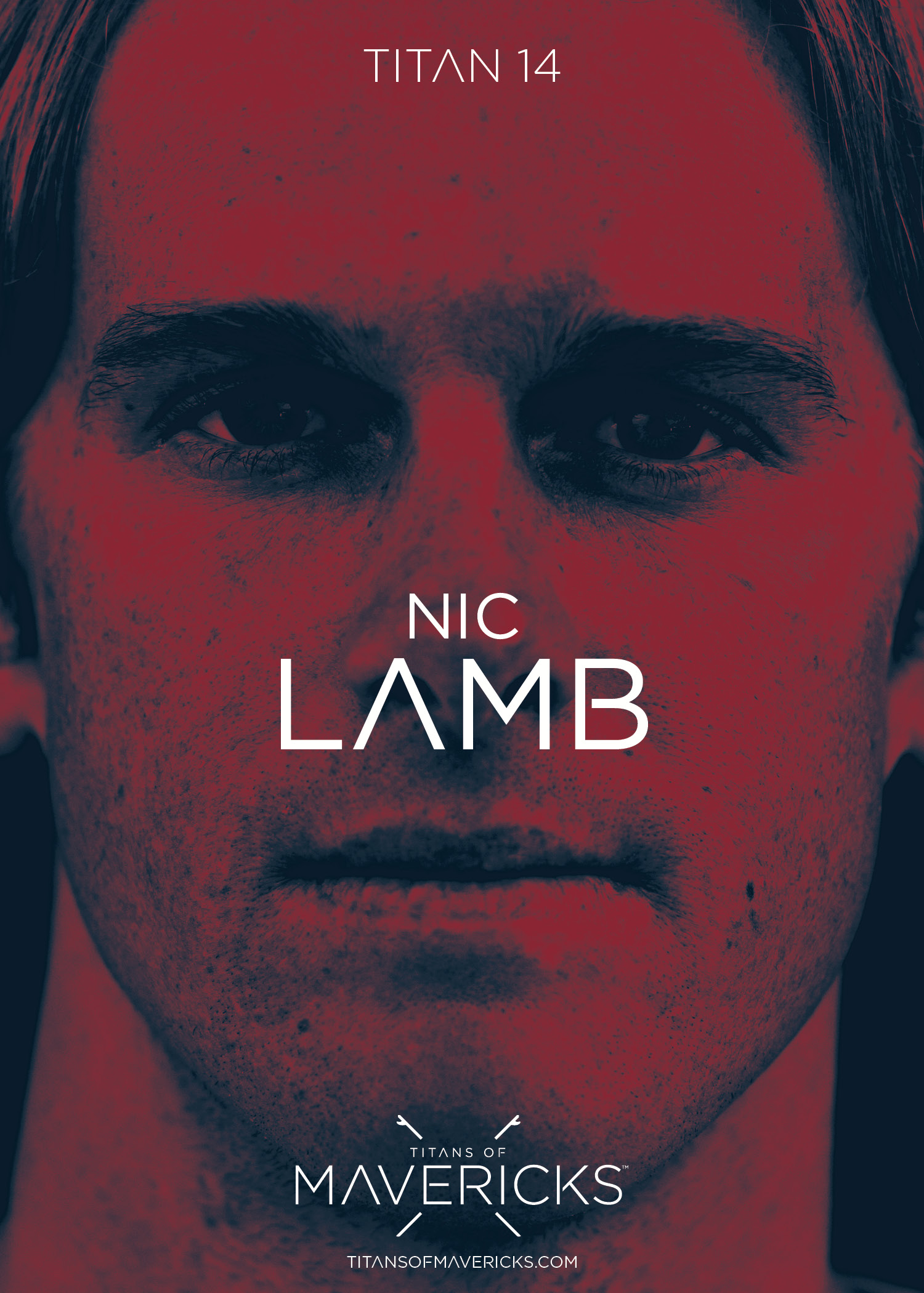 Competitor Poster: Nic Lamb ( 2016 Titans of Mavericks Champion )