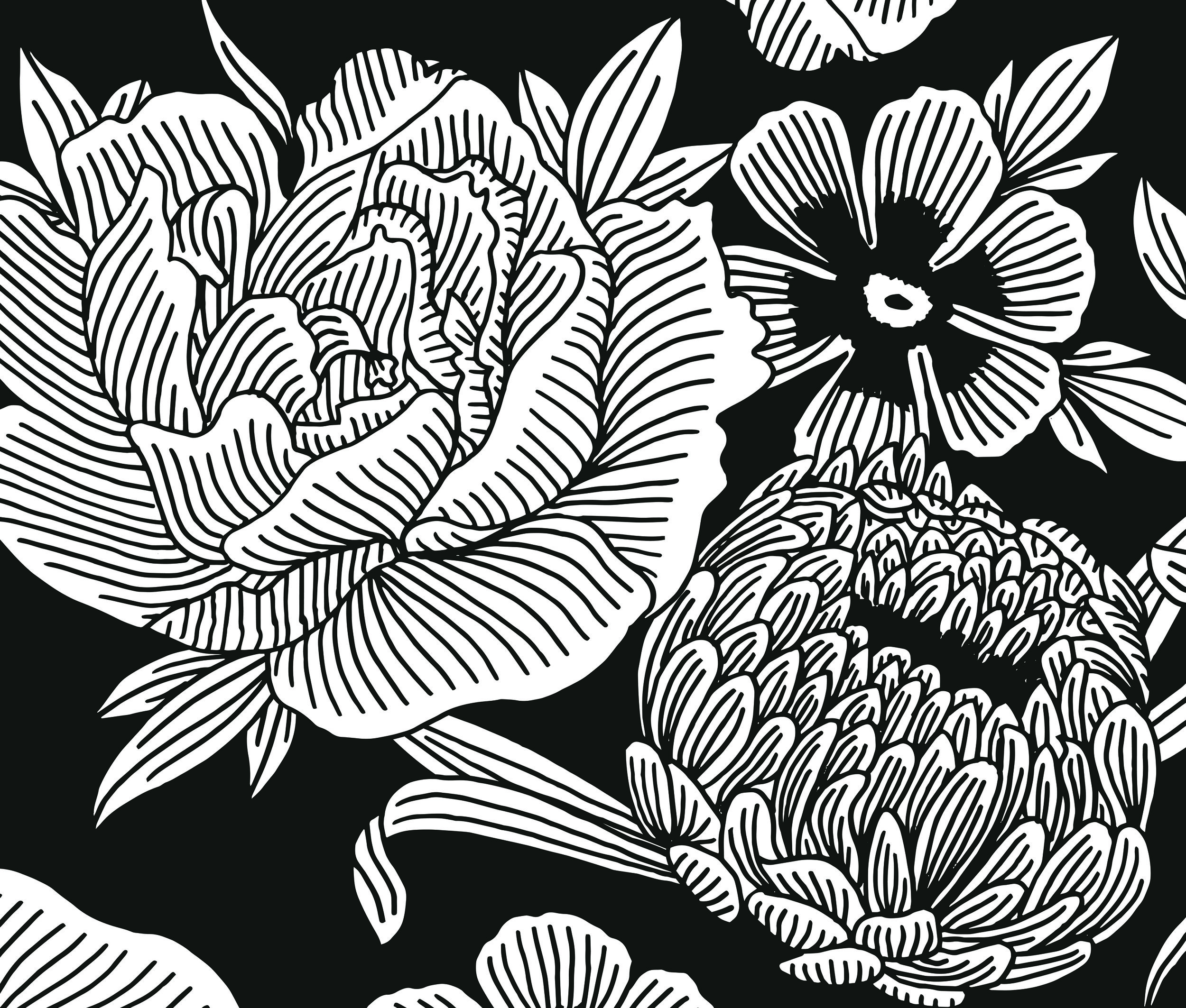 Floral brand pattern