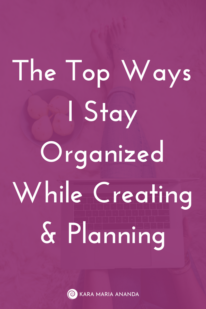 Entrepreneur tips for staying organized while planning, creating, and brainstorming your way to success.