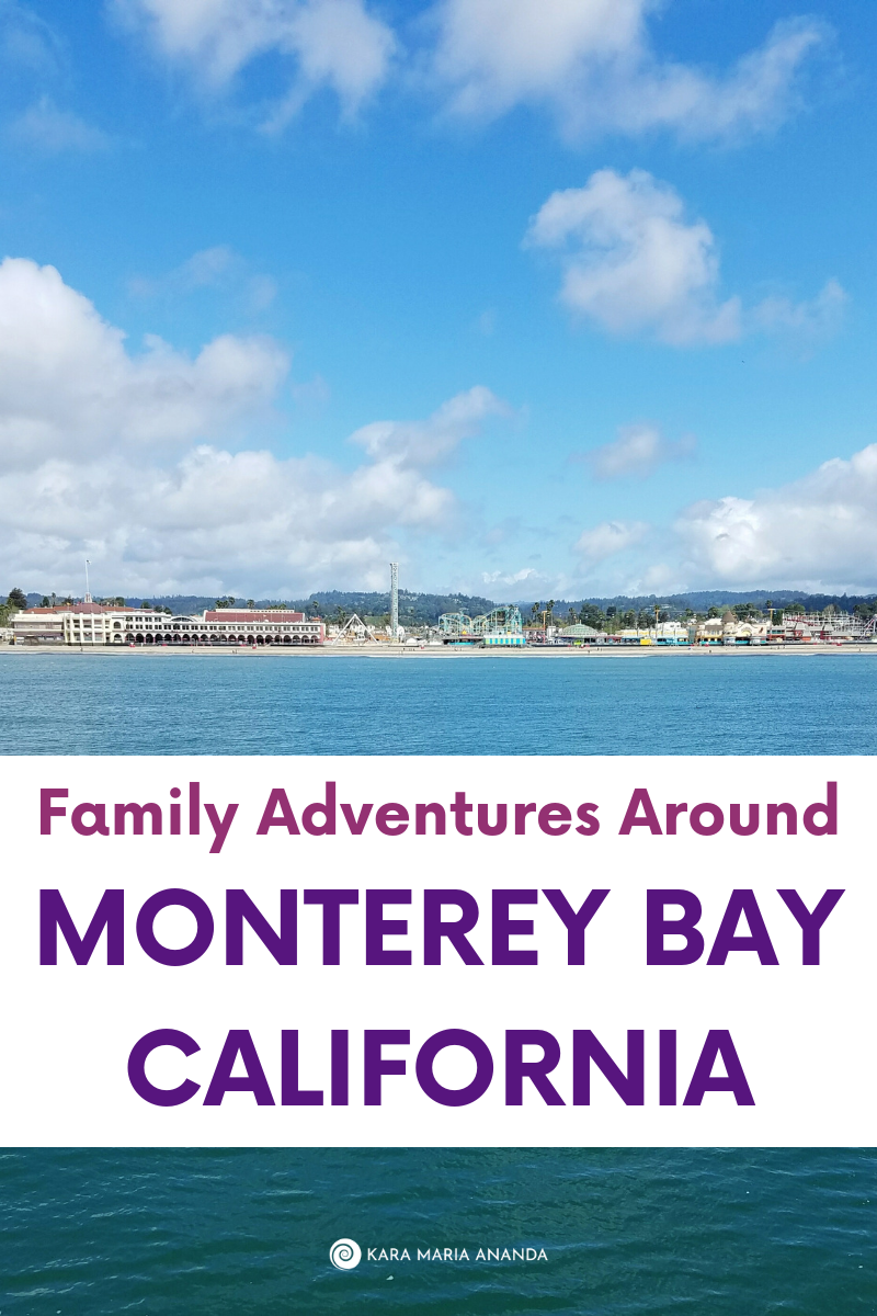 Santa Cruz beach and boardwalk from the wharf on Monterey Bay in California