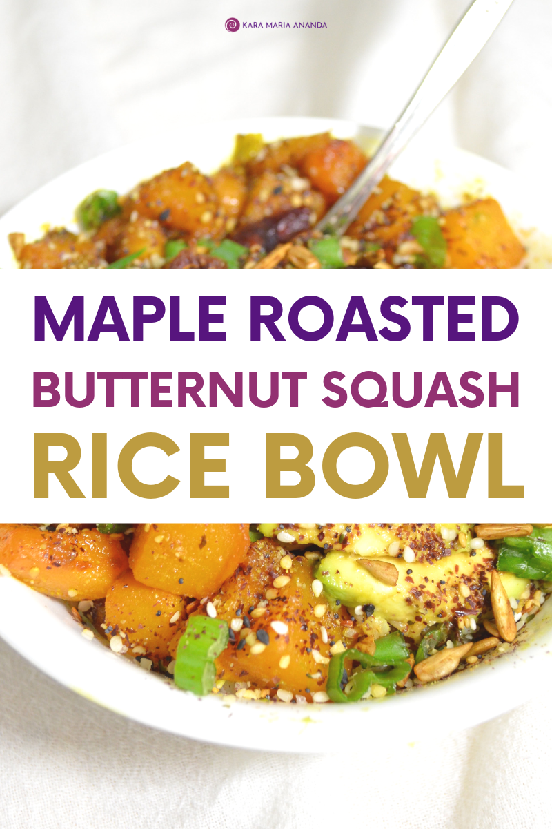 Maple Roasted Butternut Squash Bowl