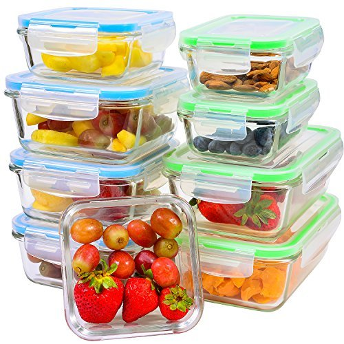 Glass Food Storage Containers for Meal Prepping