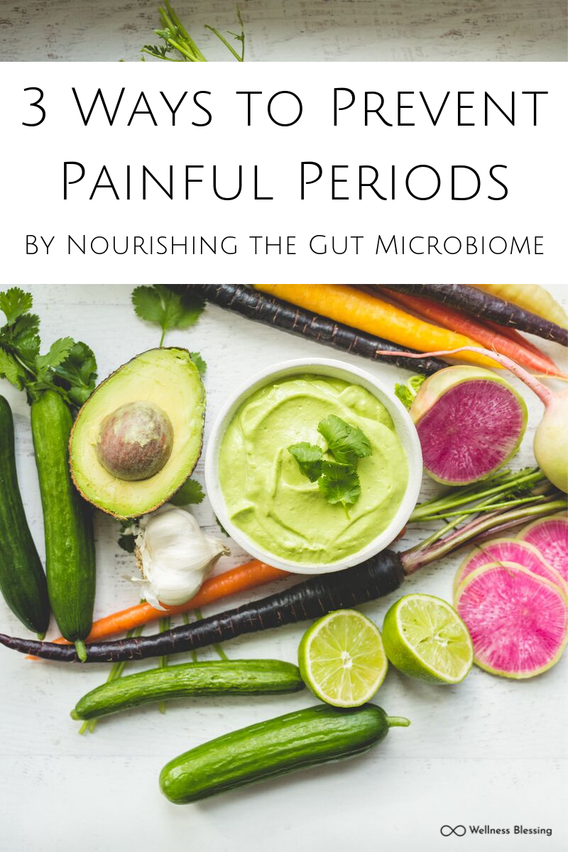 3 Ways to Prevent Menstrual Cramps Through Feeding the Gut Micobiome