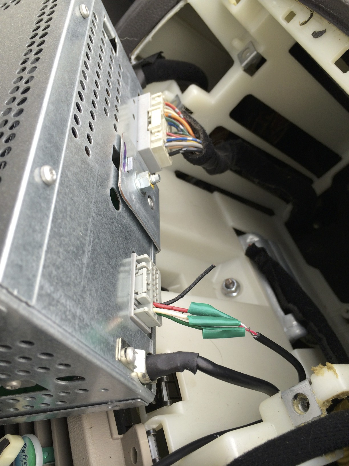 Modified XM harness to allow line-in on the stock Sonata head unit.