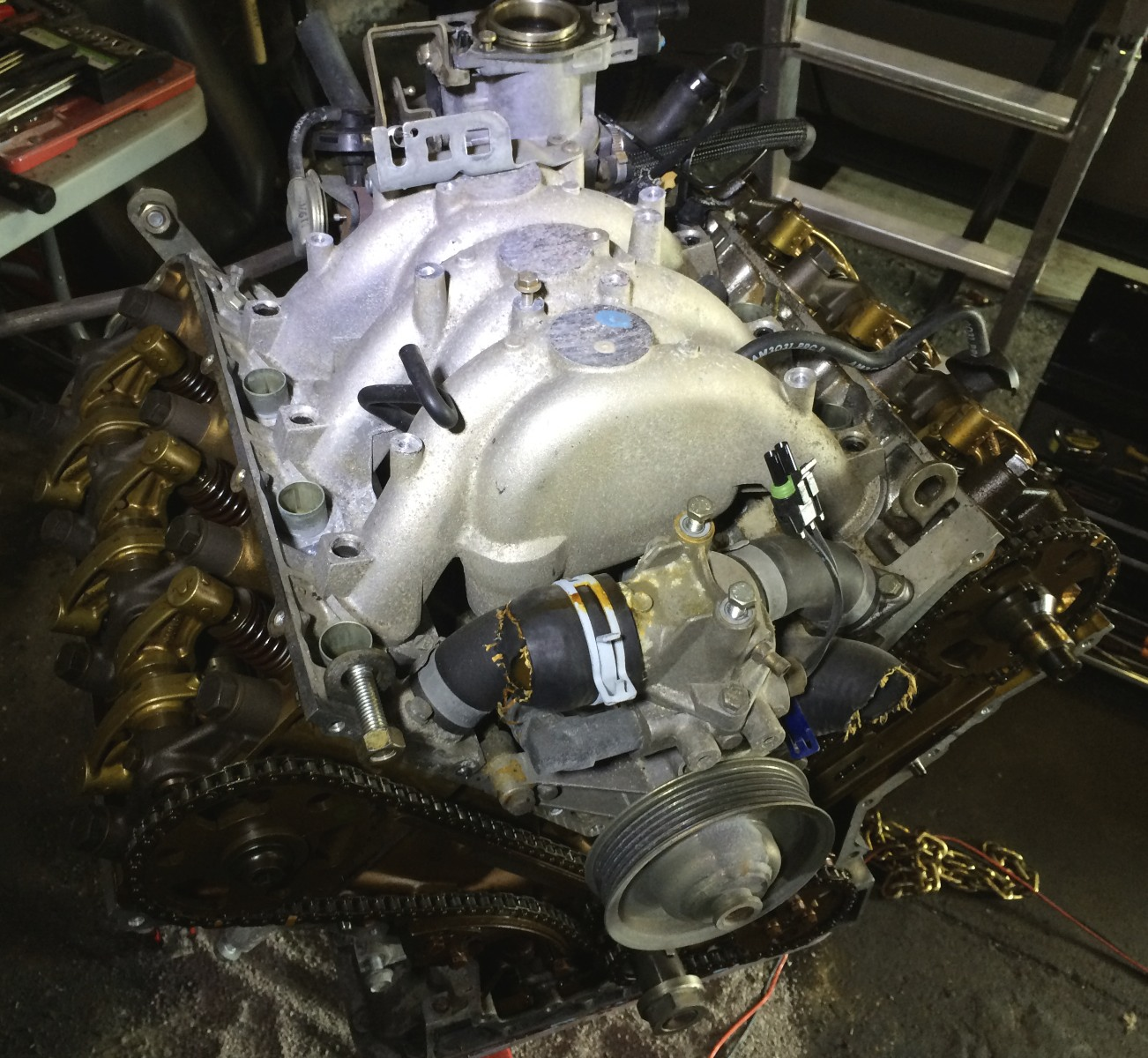 The intake manifold with the rails removed.