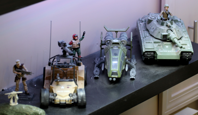GI Joe  AWE Striker, Sky Hawk and MOBAT.
