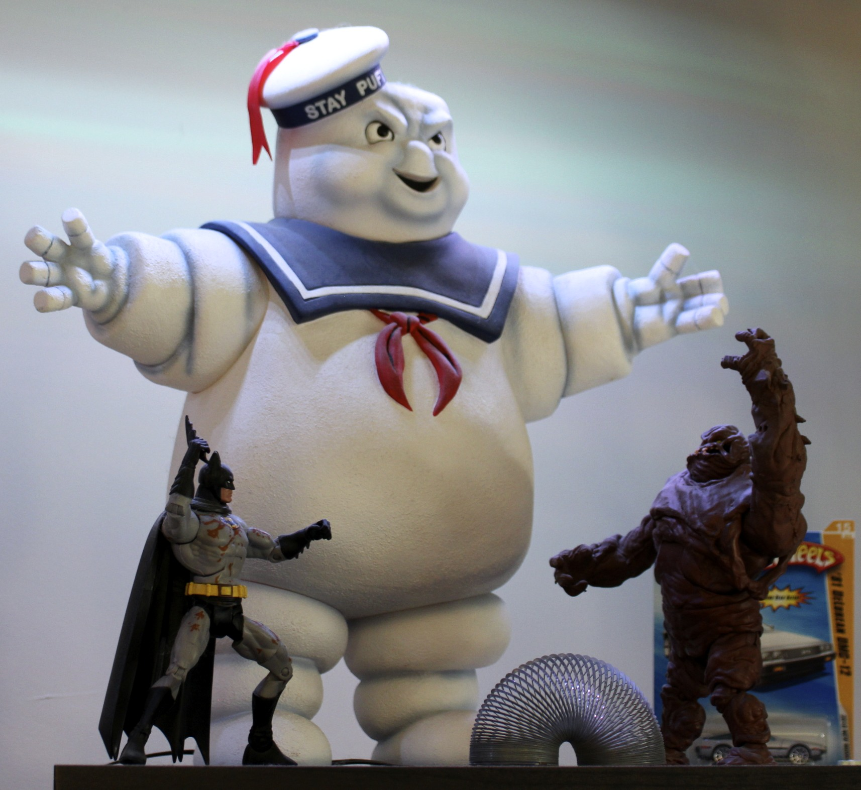 Ghostbusters  Stay-Puft Marshmallow Man, Batman vs. Clayface, and a Slinky.