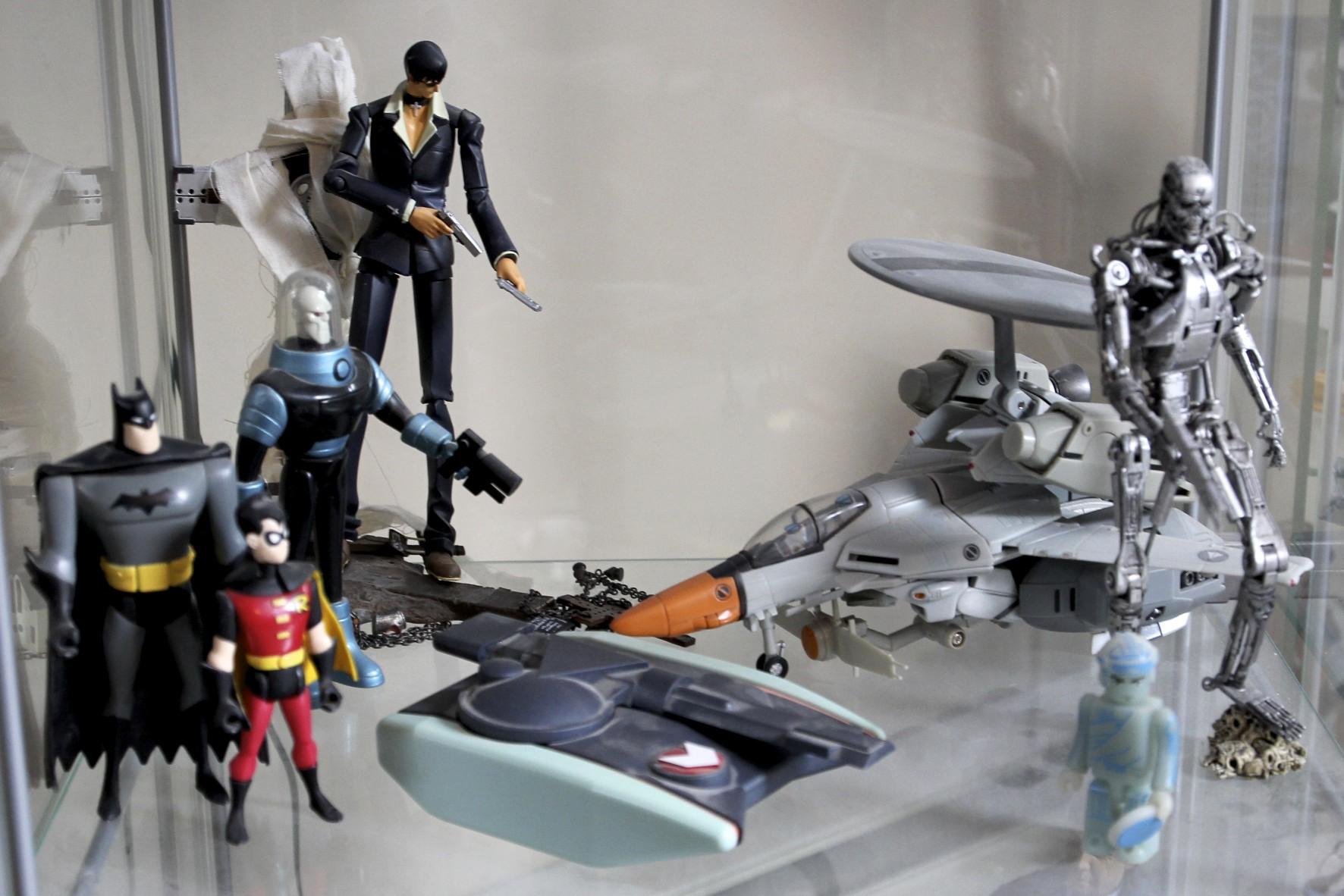 Trigon's  Wolfwood,  Robotech  ELINT Veritech, Batman and Robin, Mr. Freeze,  TRON  Light Tank, Terminator