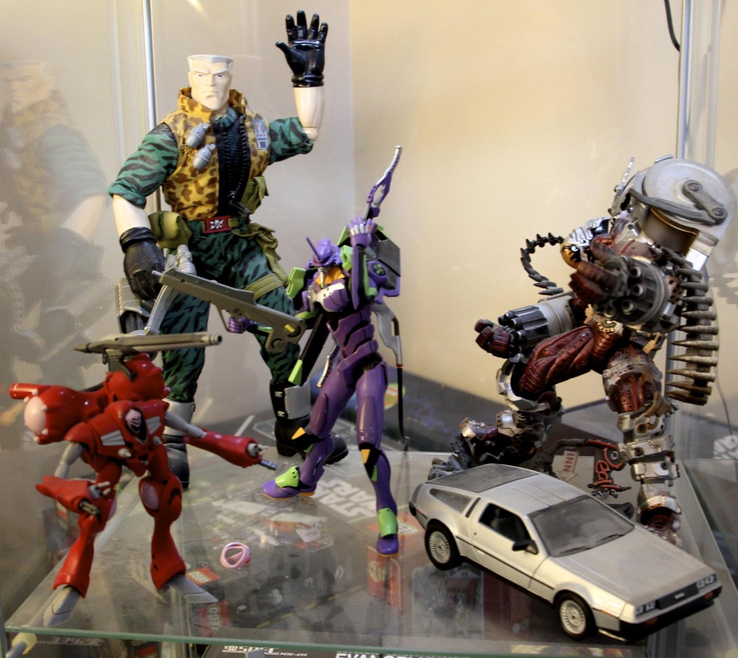 Small Soldiers  Chip Hazzard,   Evangelion   EVA-01, Trigun's Monev the Gale,  Robotech  Queadluun Rau, DeLorean.