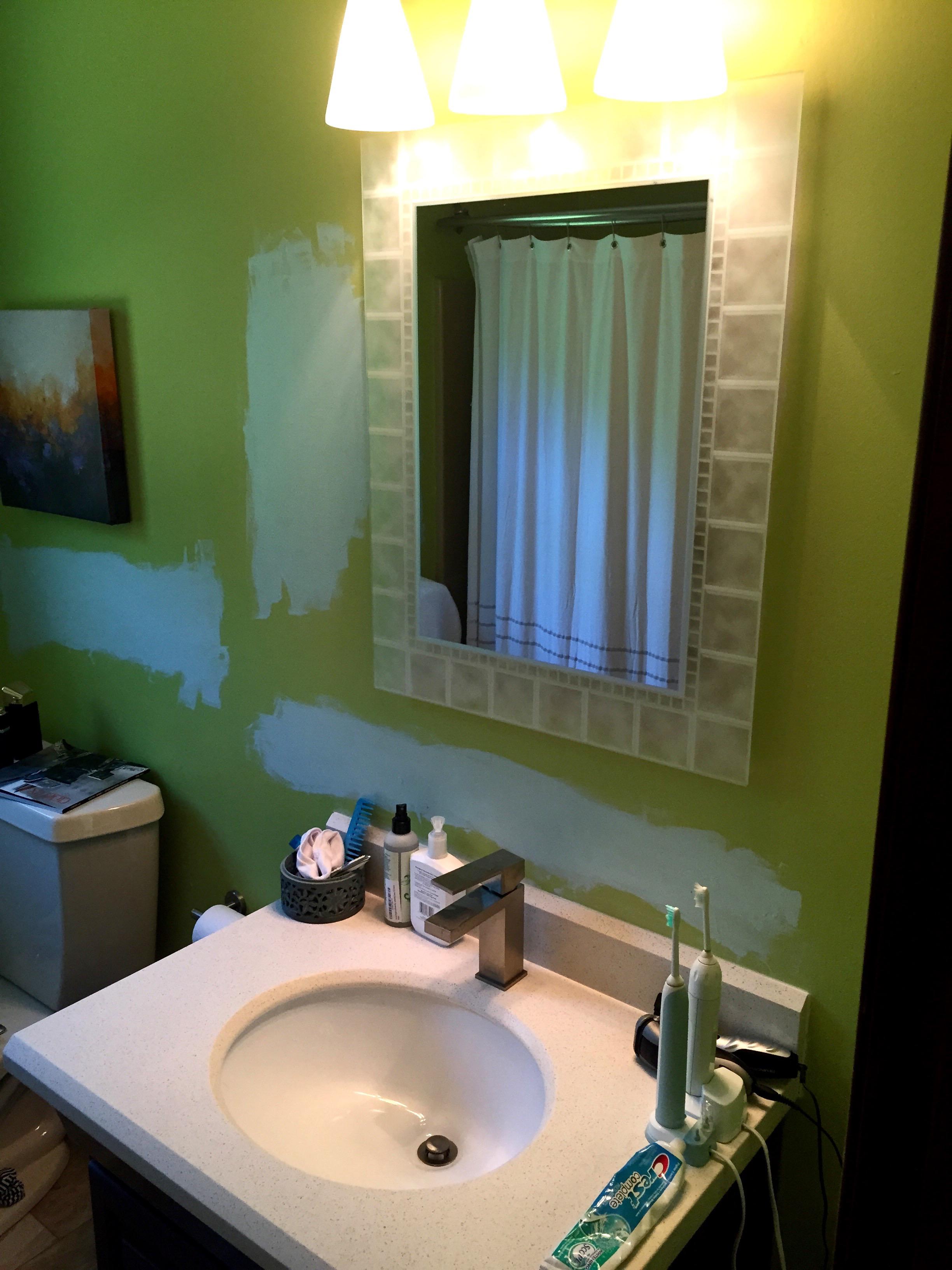 The original bathroom mirror.