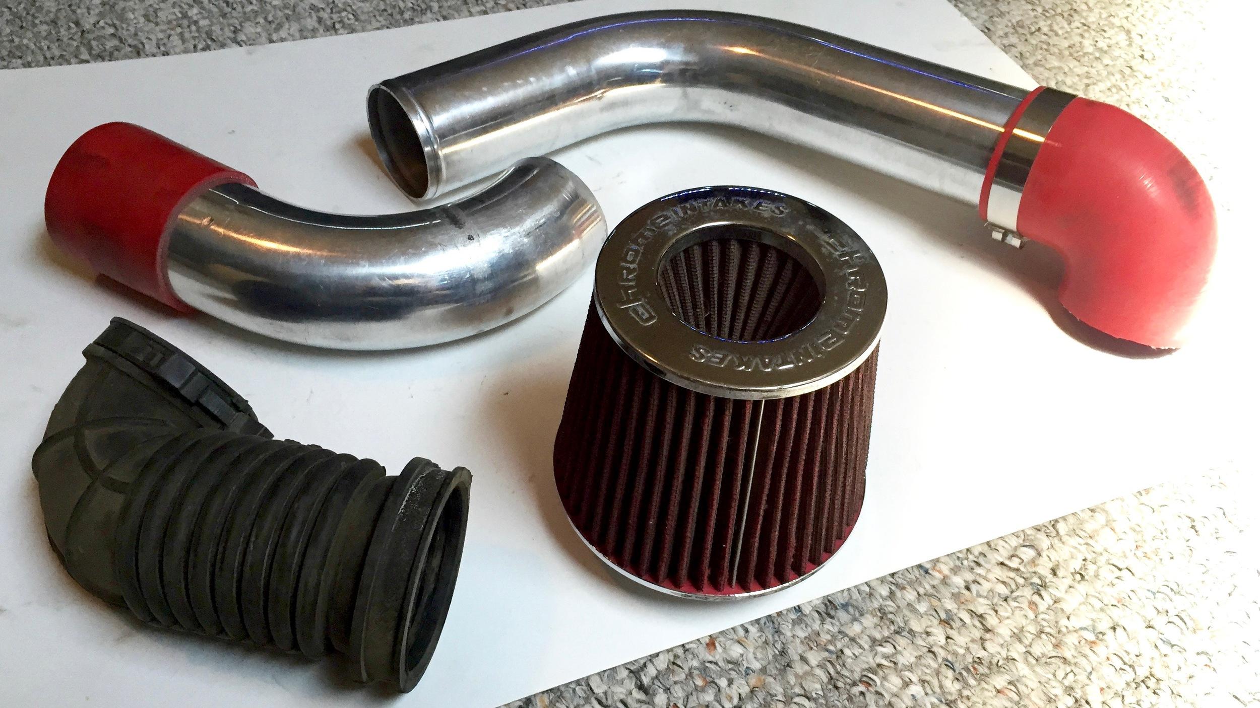 Air intake piping and filter.