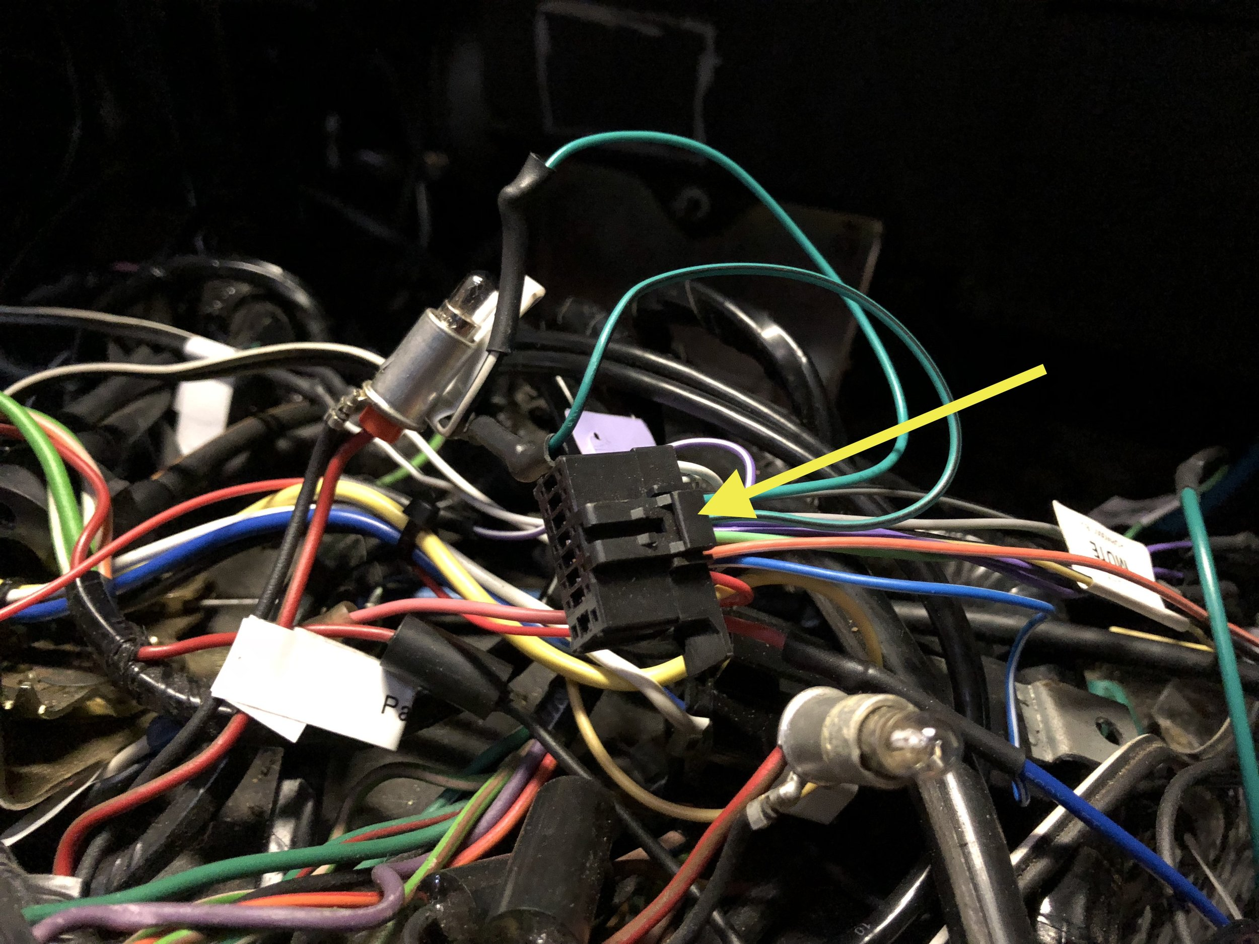 The harness, all wired up.