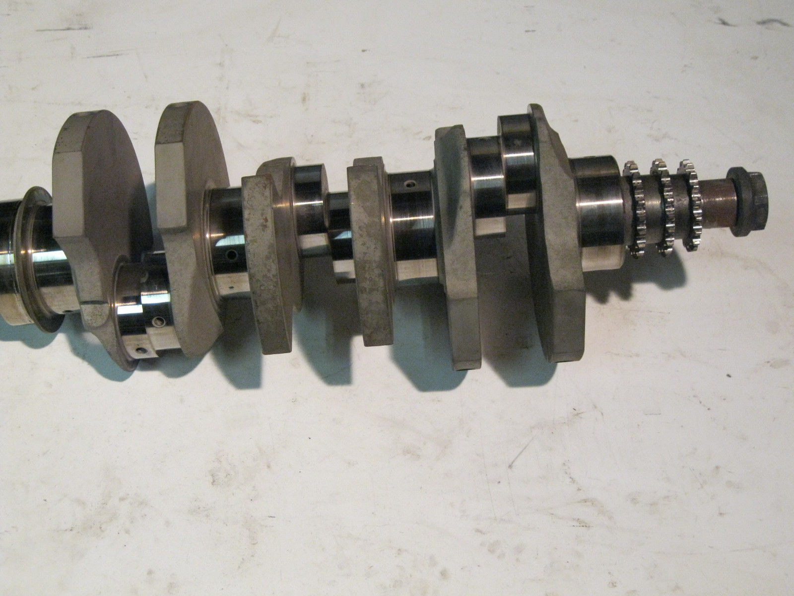 A 3.0L crank. Notice that he journals are split, thus allowing for even firing (photo from eBay).
