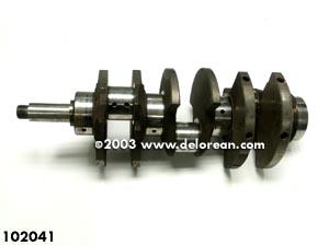 A 2.8L crank. Notice the journals are uniform (photo from the store.delorean.com).
