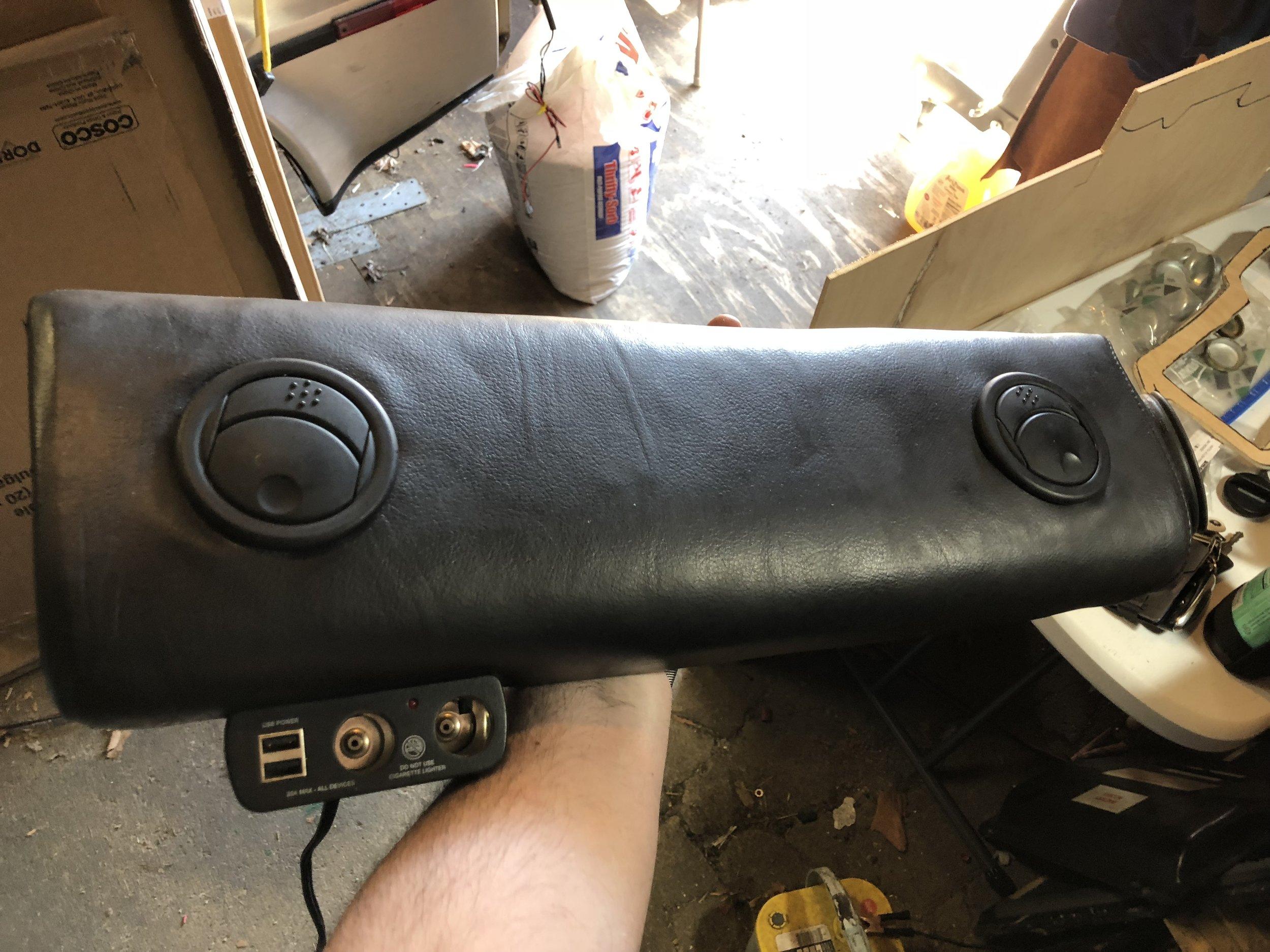 Passenger Knee Pad Vents