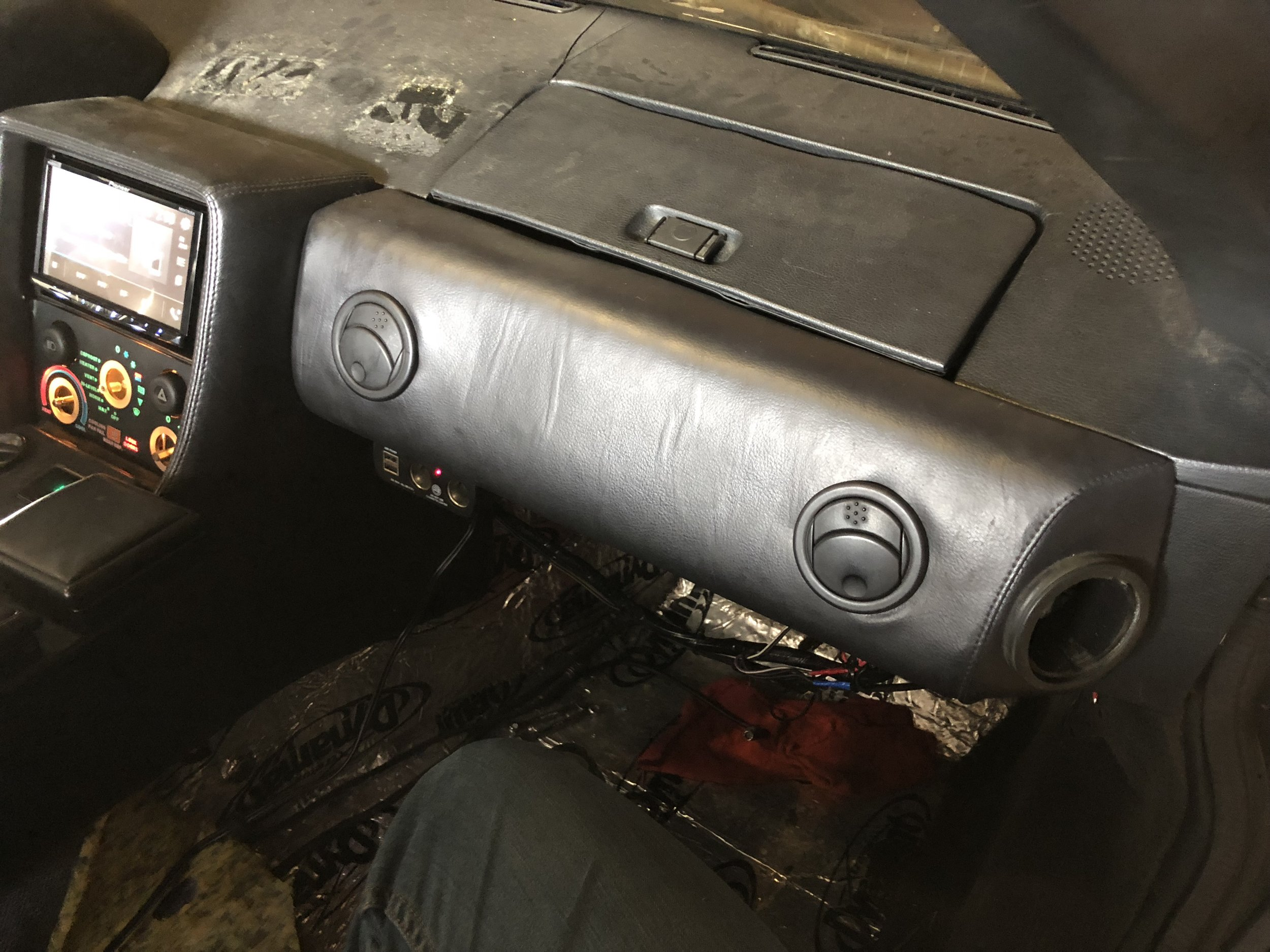 Passenger Knee Pad Installed