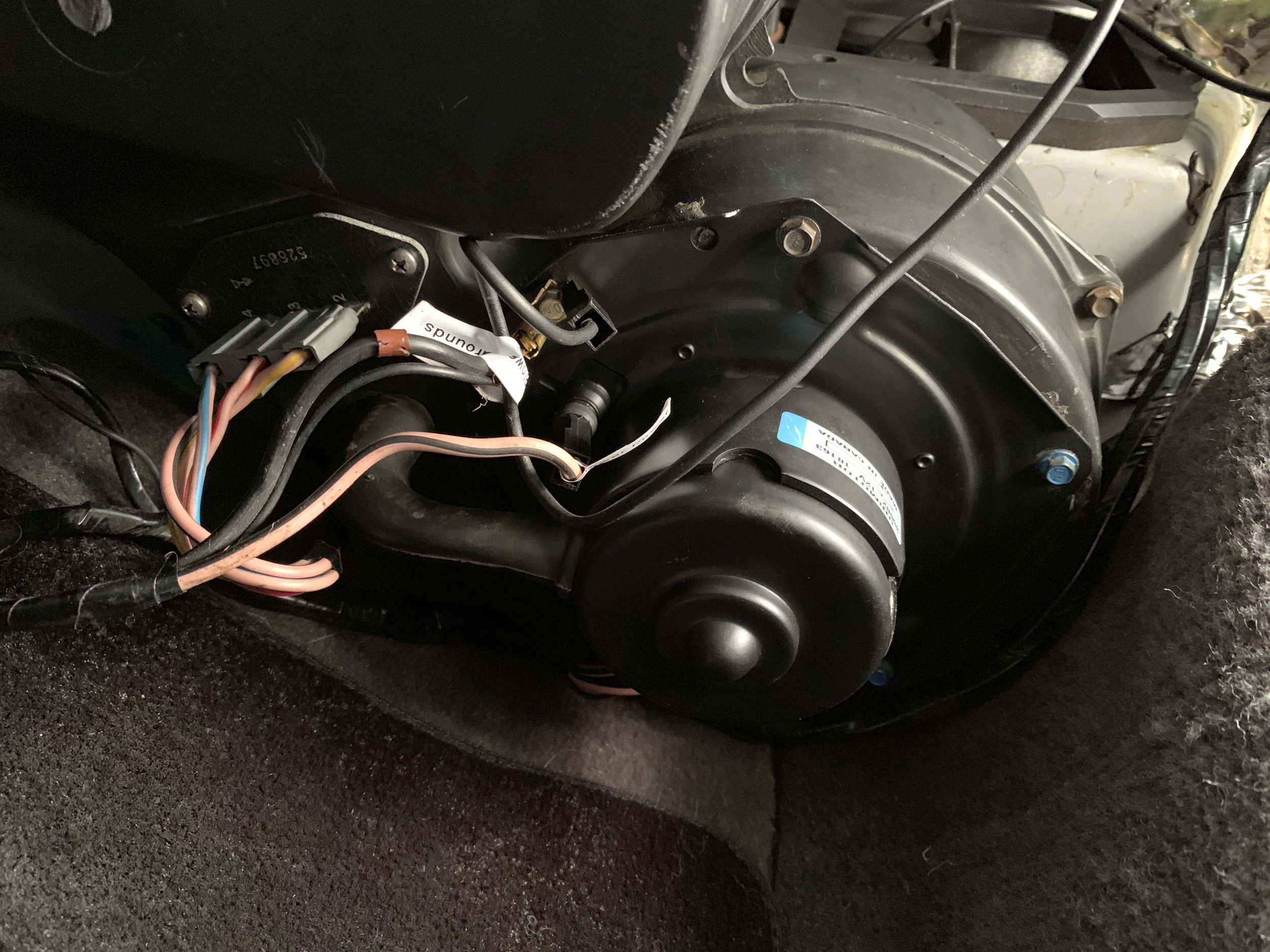 The installed motor.