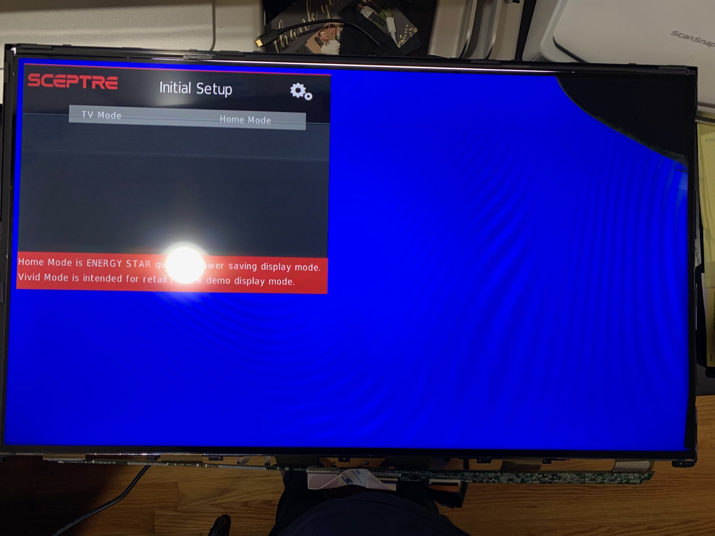 Why you should be careful disassembling a the HDTV.