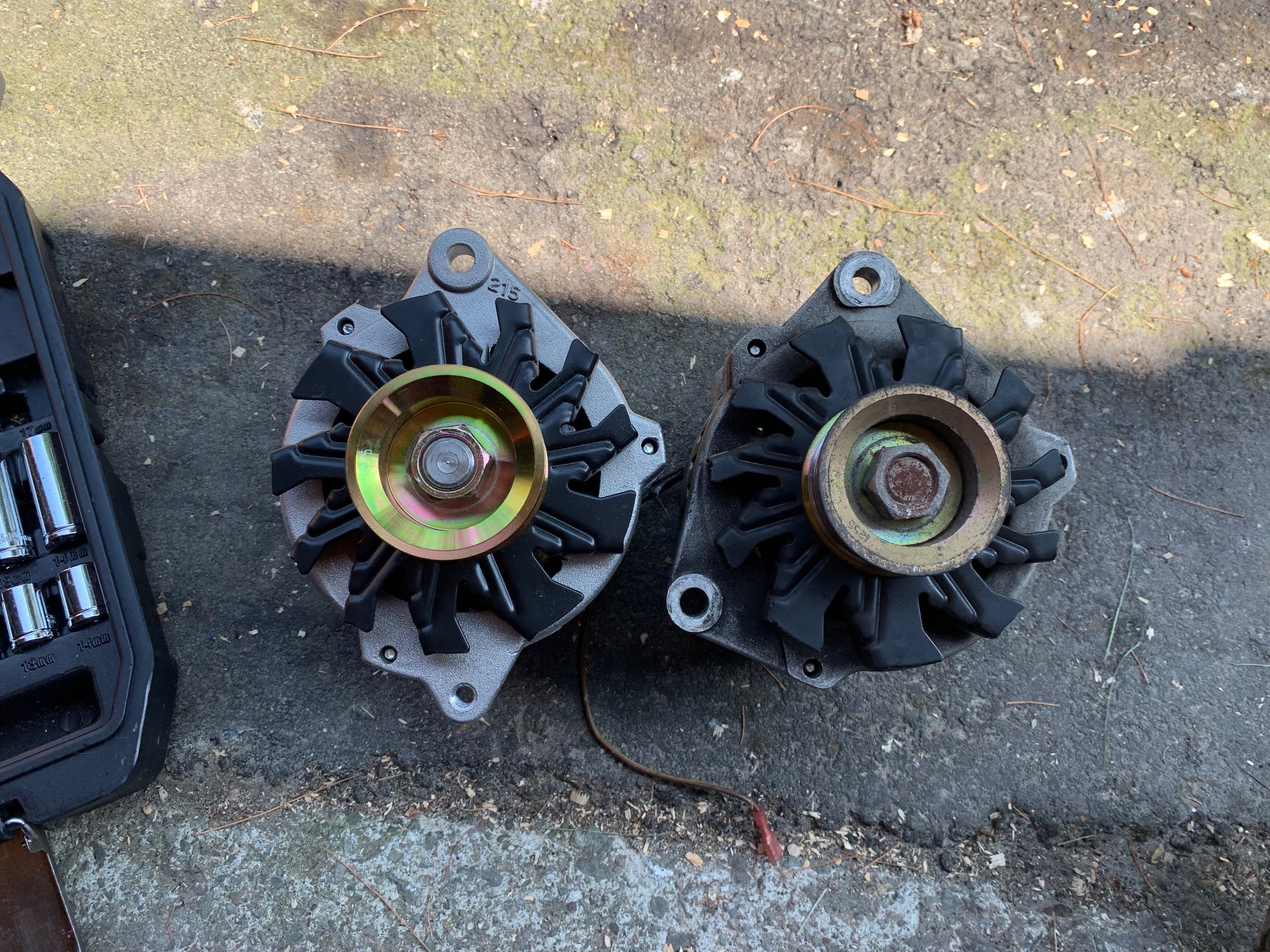 The wrong alternator. Notice the position an size of the bottom hole doesn't match the correct alternator.